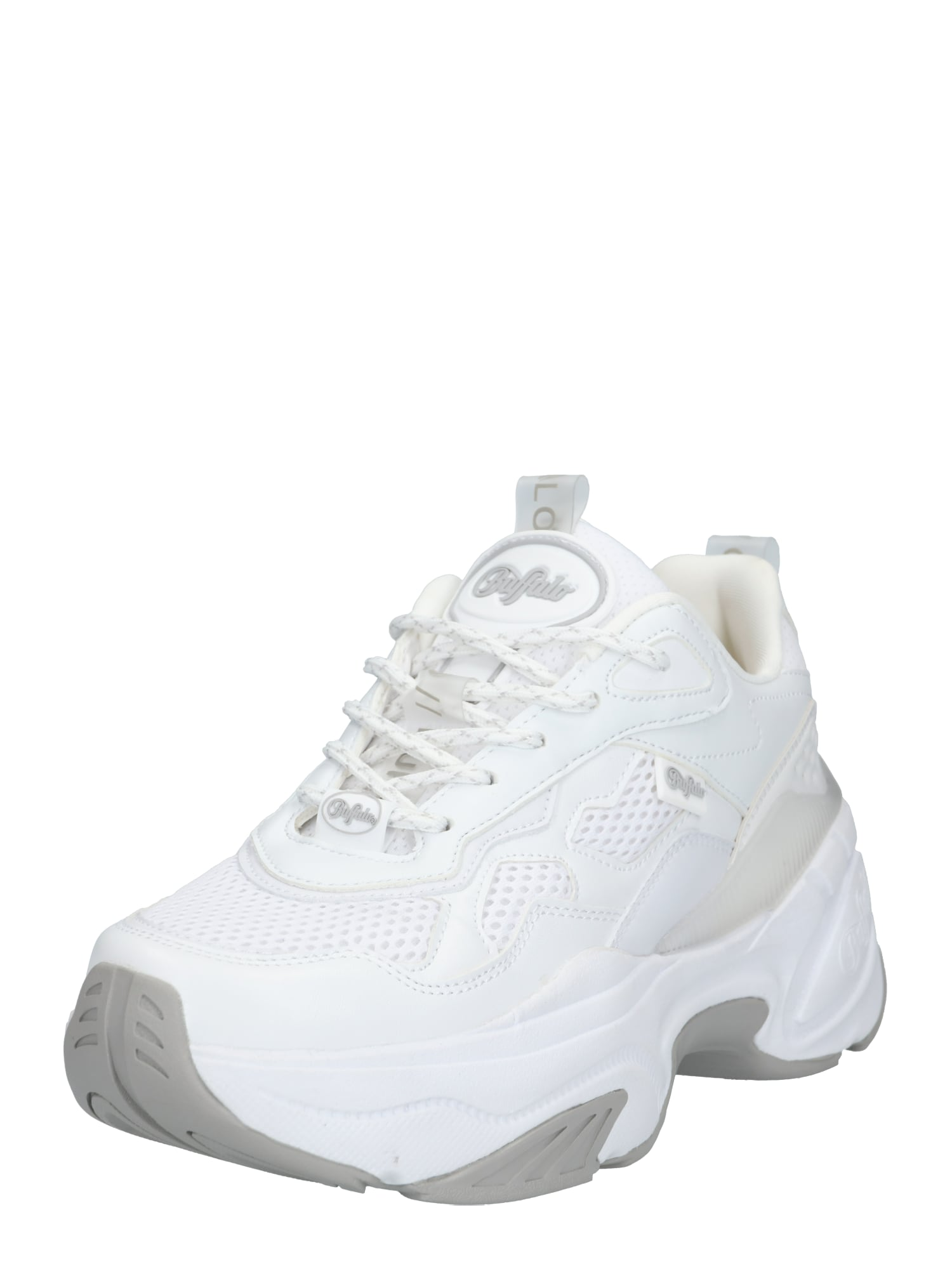 BUFFALO Nízke tenisky  sivá / biela