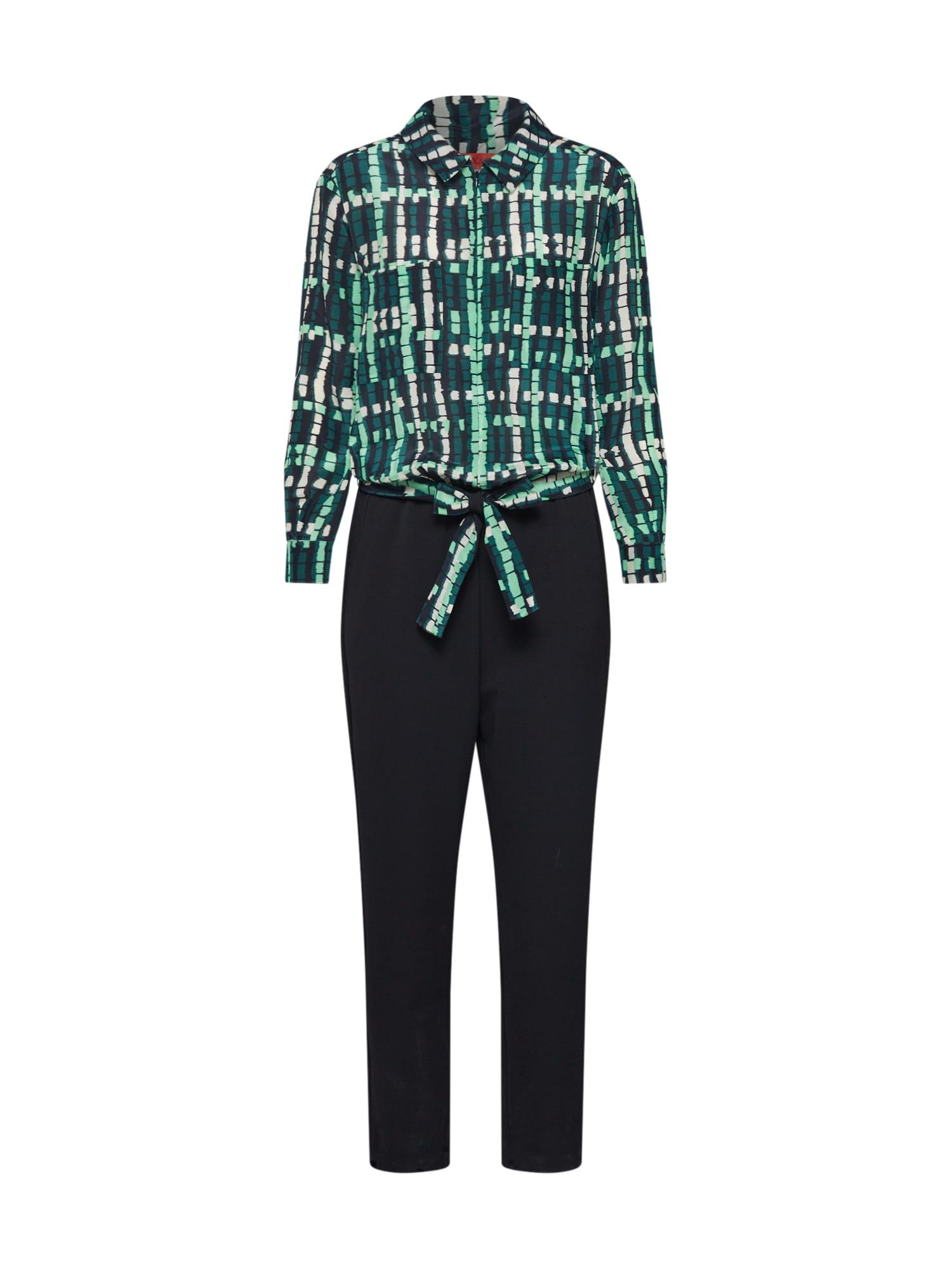 MAX&Co. Kombinezono tipo kostiumas 'CUORE' juoda / žalia