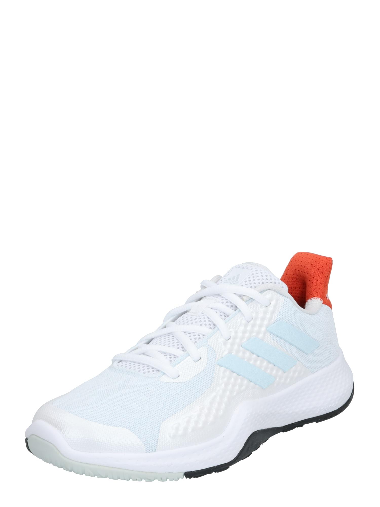 ADIDAS PERFORMANCE Sportiniai batai 'FitBounce Trainer' oranžinė / balta