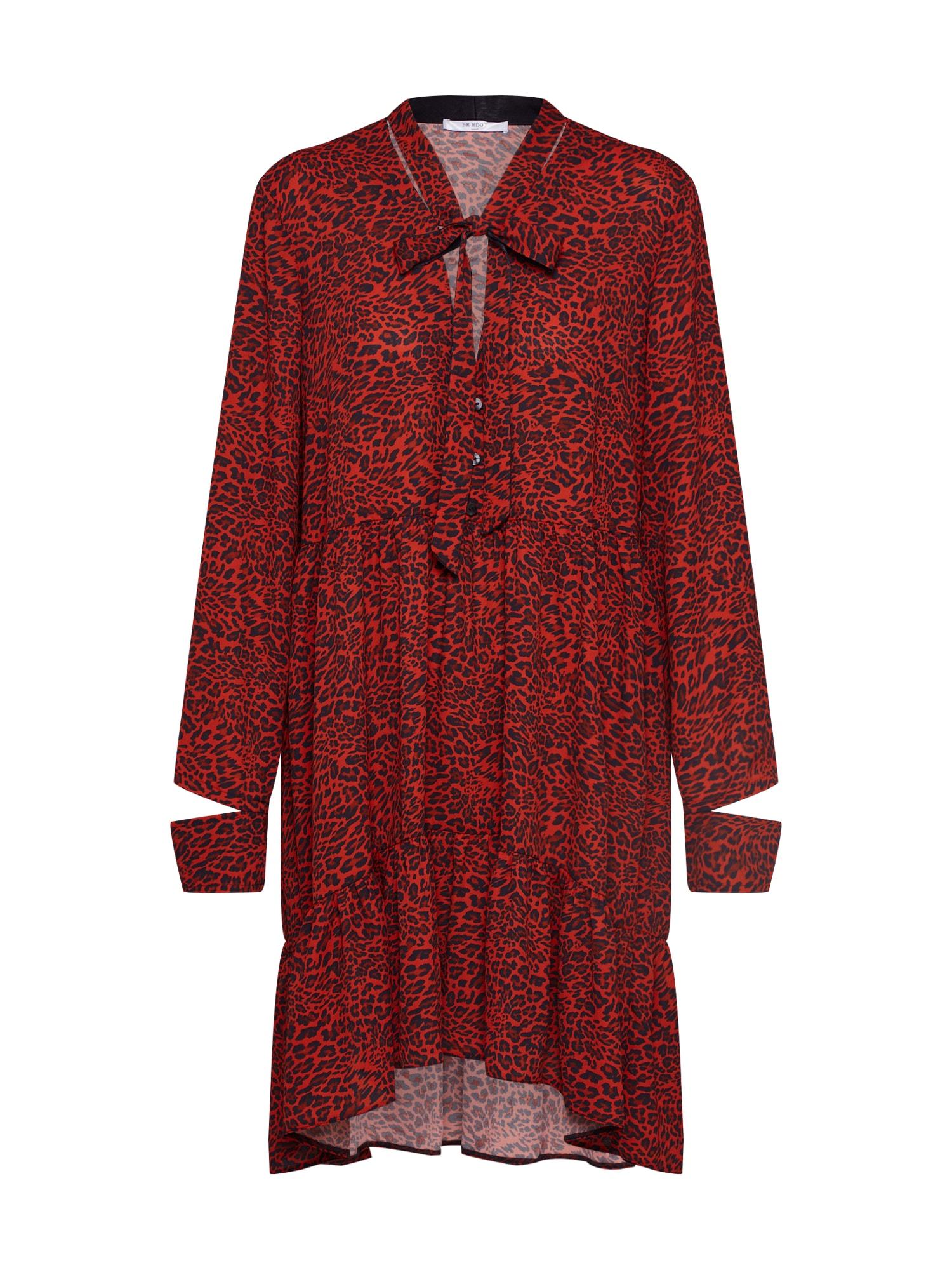 BE EDGY Palaidinės tipo suknelė 'Bemaila' tamsiai raudona