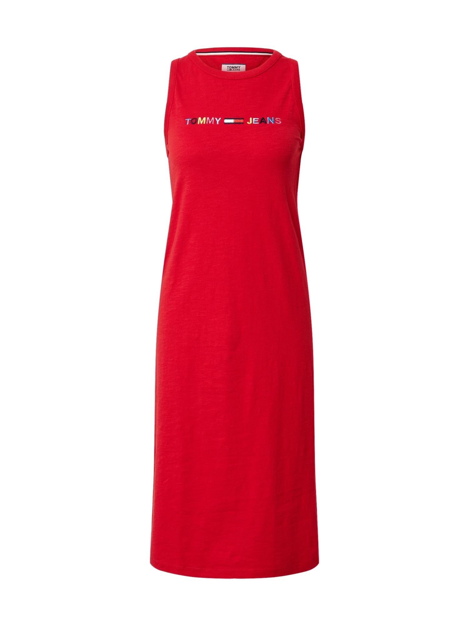 Tommy Jeans Letné šaty  červené