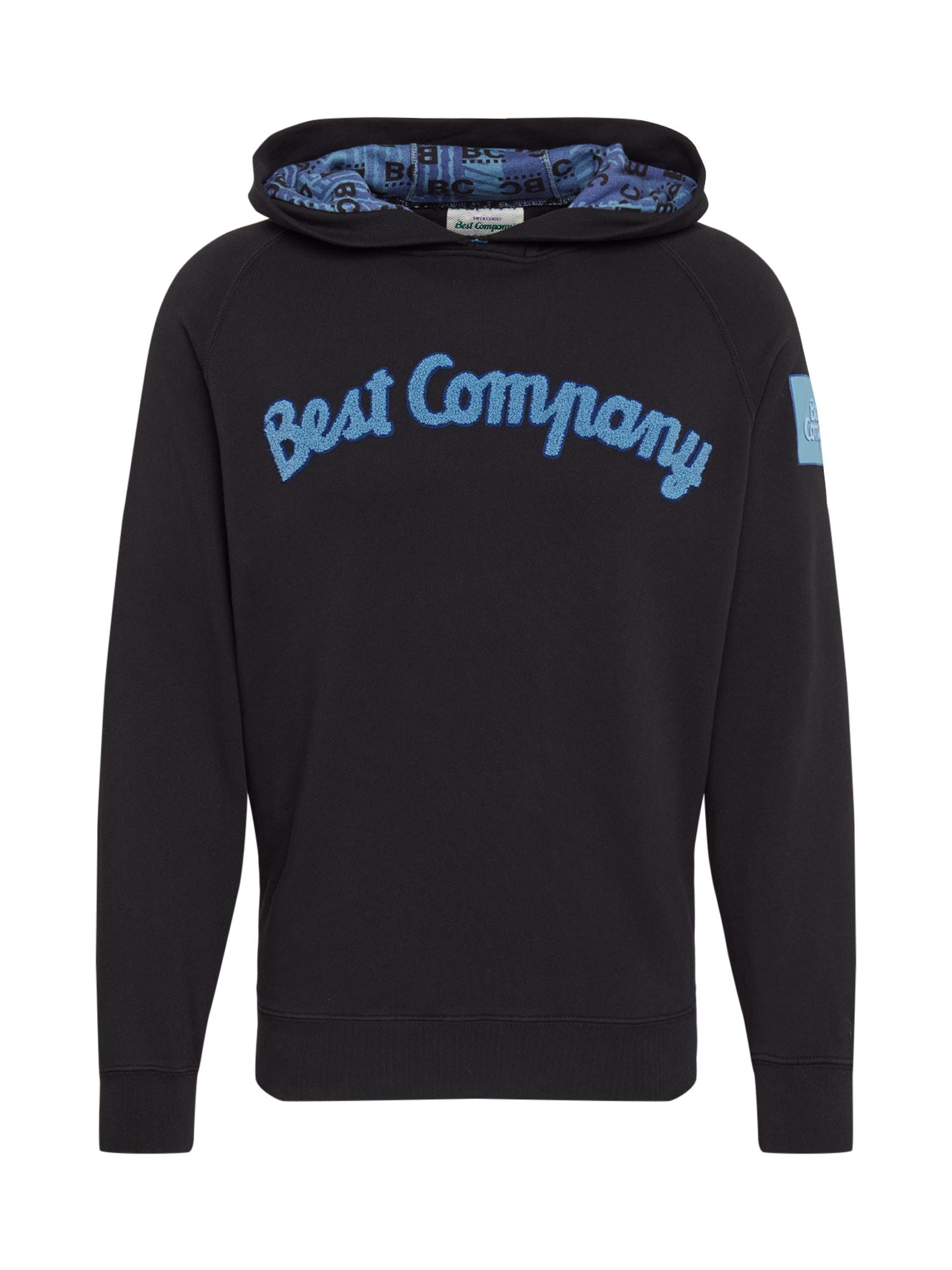 Best Company Megztinis be užsegimo mėlyna / juoda