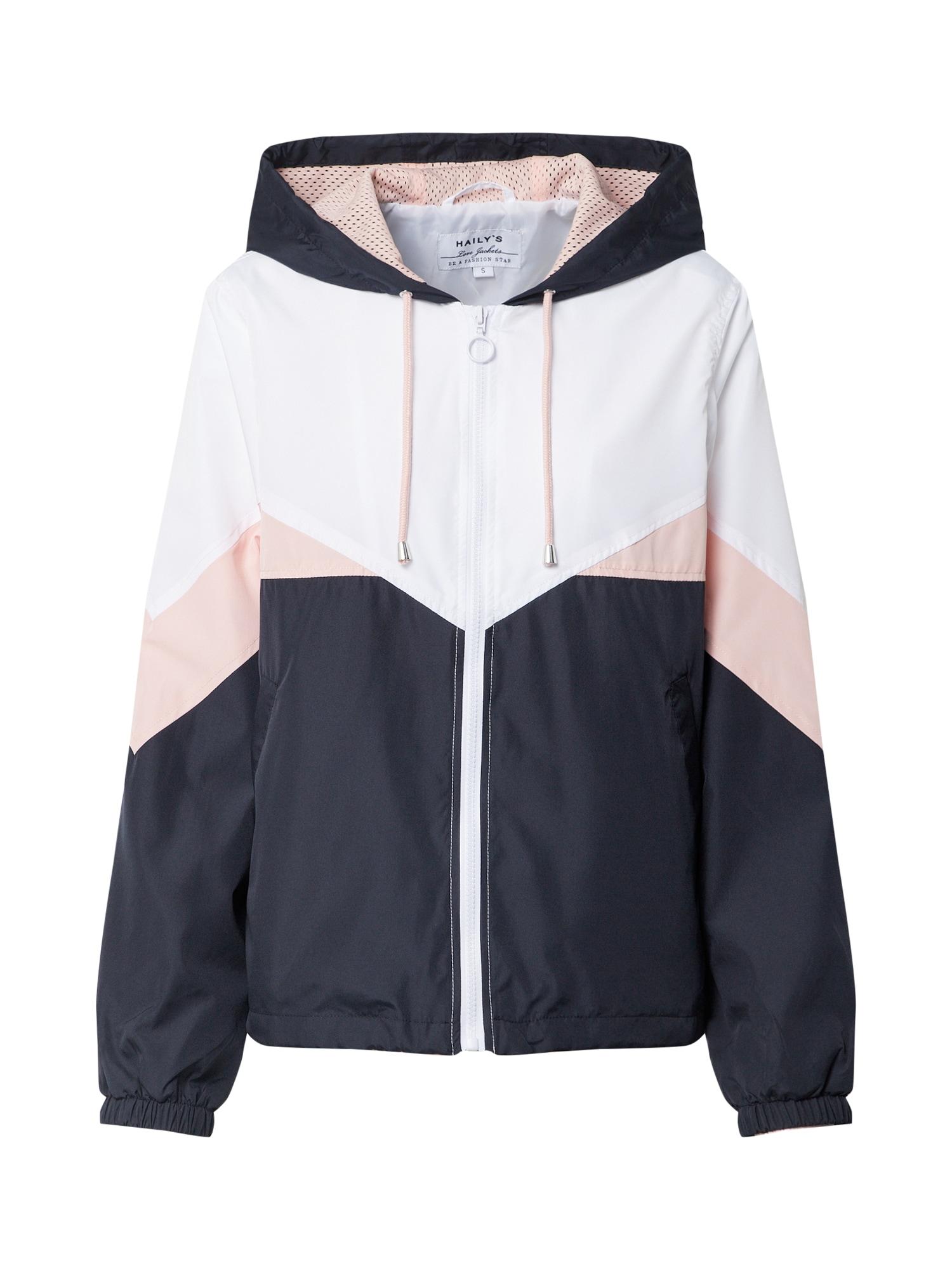 Hailys Prechodná bunda 'Joana'  rosé / tmavomodrá / biela