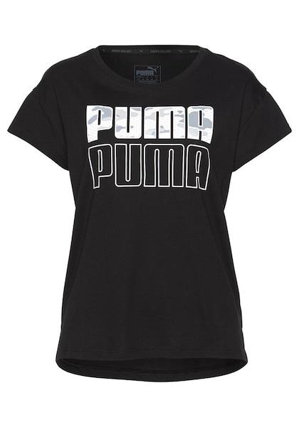 Sportmode für Frauen - PUMA Funktionsshirt 'MODERN SPORT GRAPHIC TEE' schwarz weiß  - Onlineshop ABOUT YOU