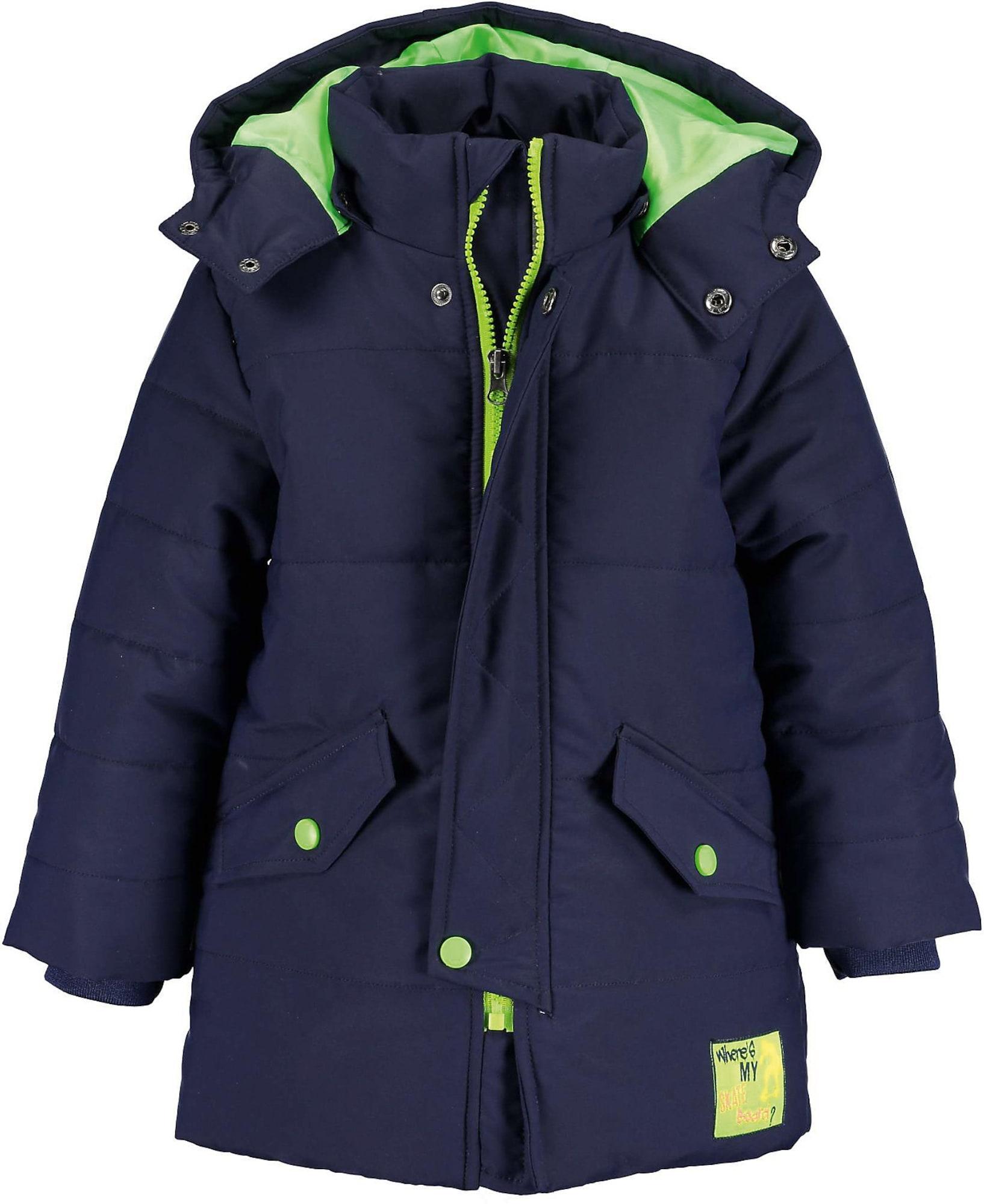 BLUE SEVEN Paltas tamsiai mėlyna / neoninė žalia
