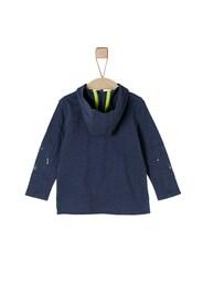 - Kinder,  Jungen S.Oliver Junior Langarmshirt mit Kapuze blau,  gelb | 04055268358871