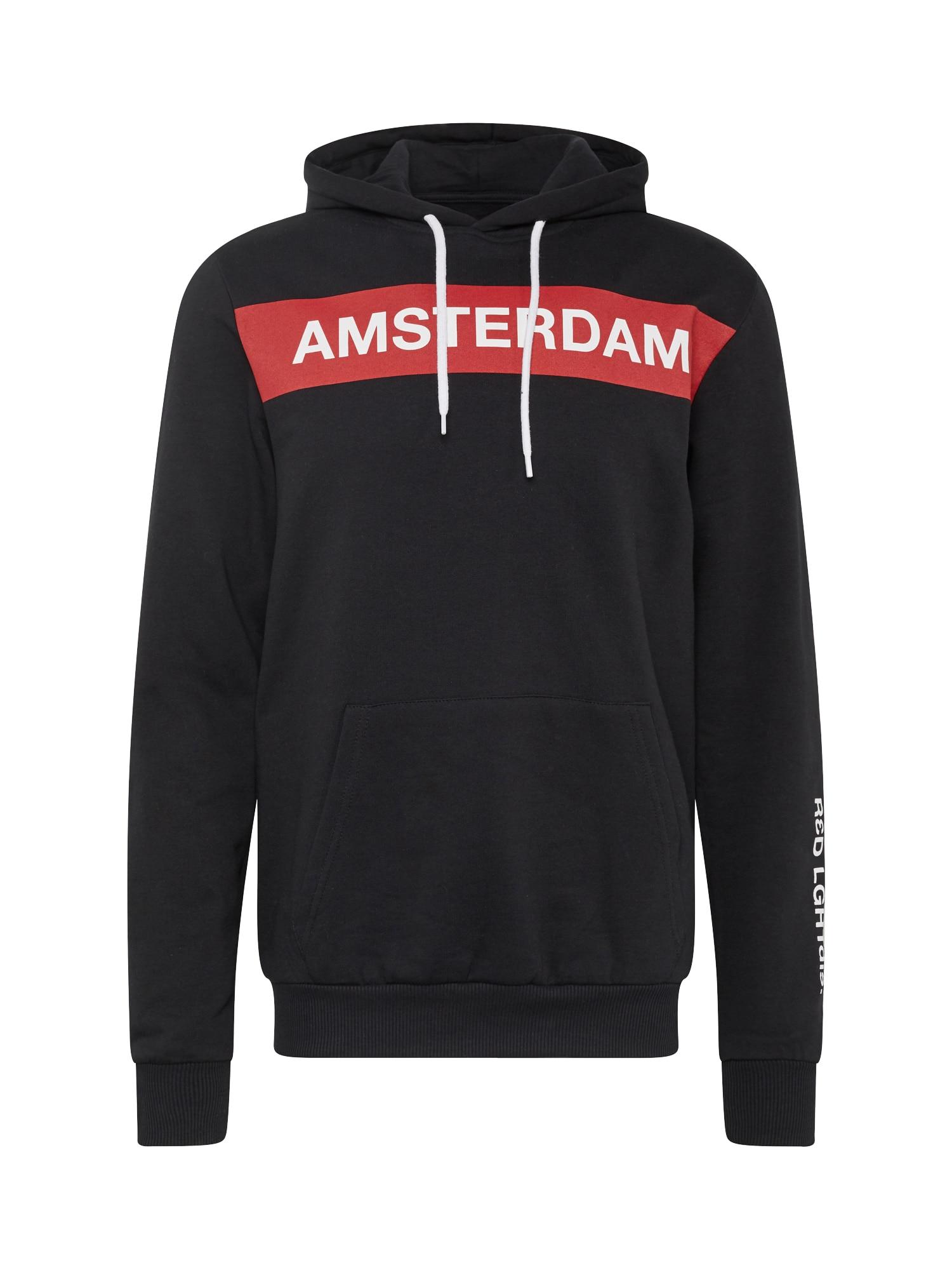 Mikina s kapucí AMSTERDAM červená černá bílá YOURTURN