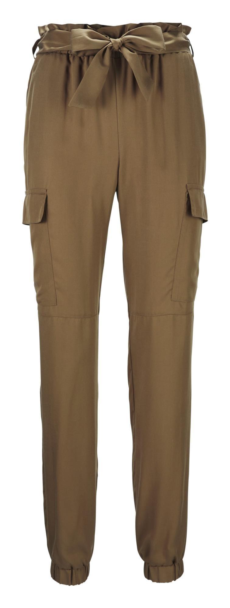 heine Kalhoty s puky  světle hnědá