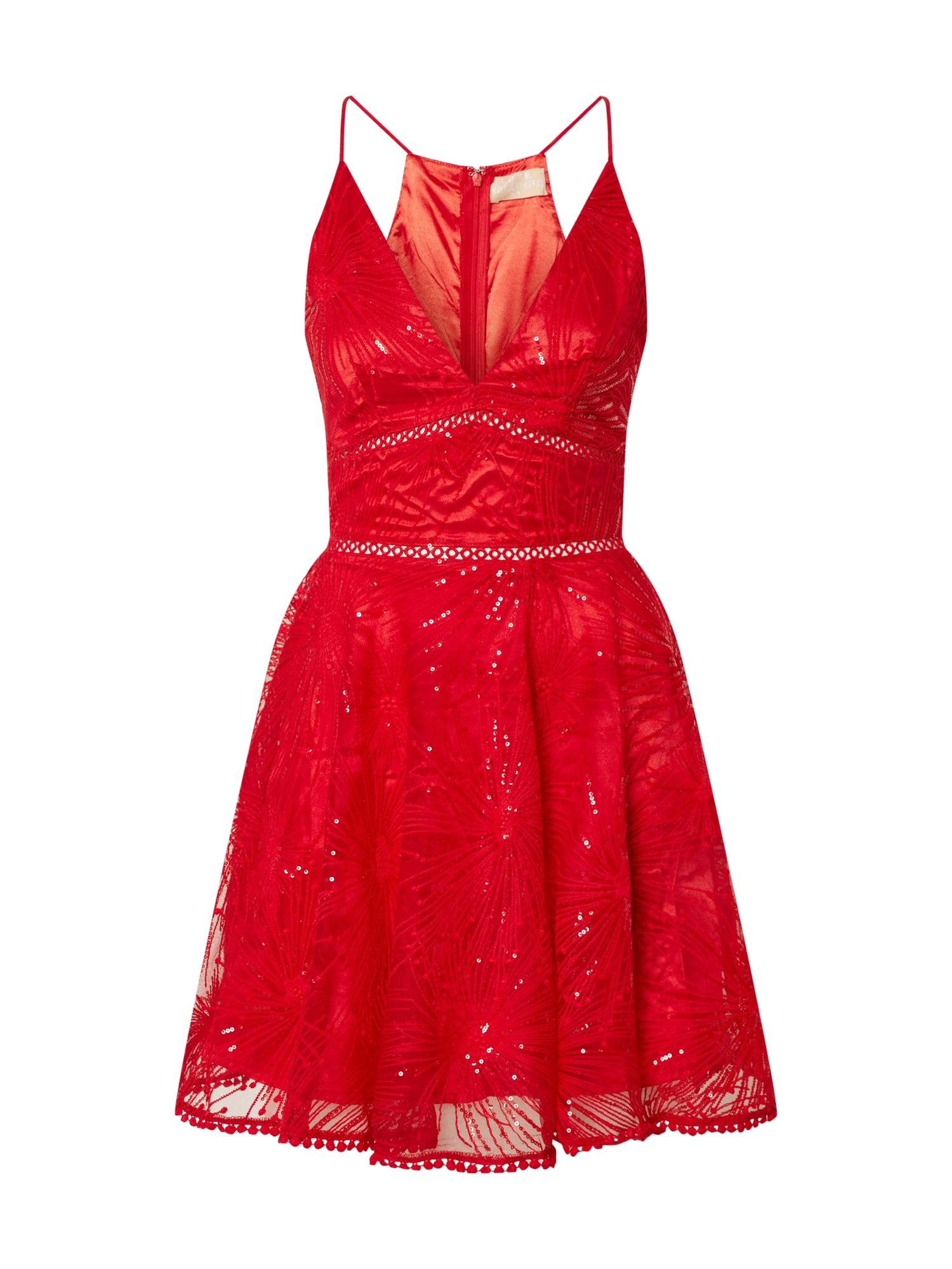 Love Triangle Kokteilinė suknelė 'Constellations' raudona