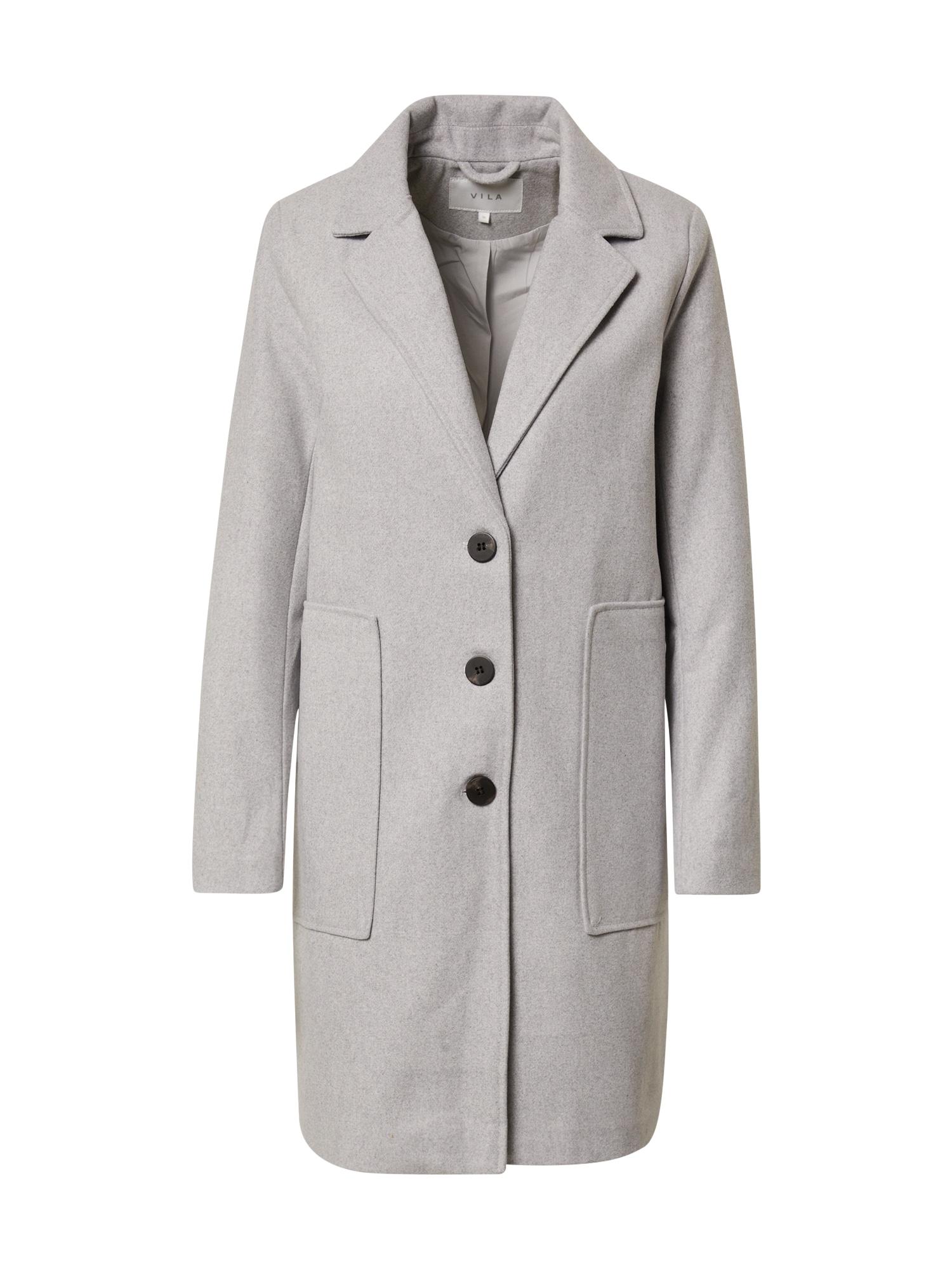 VILA Demisezoninis paltas margai pilka