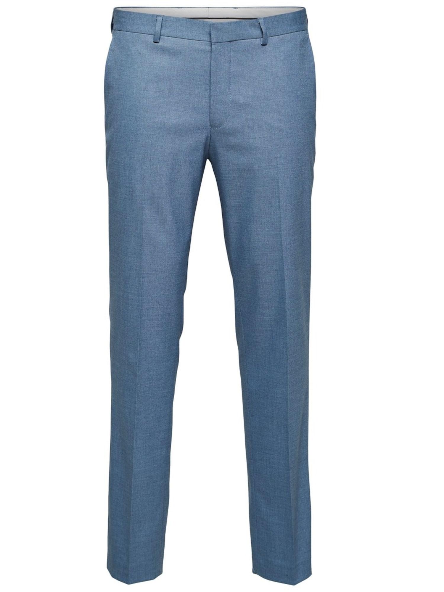 SELECTED HOMME Plisované nohavice  svetlomodrá