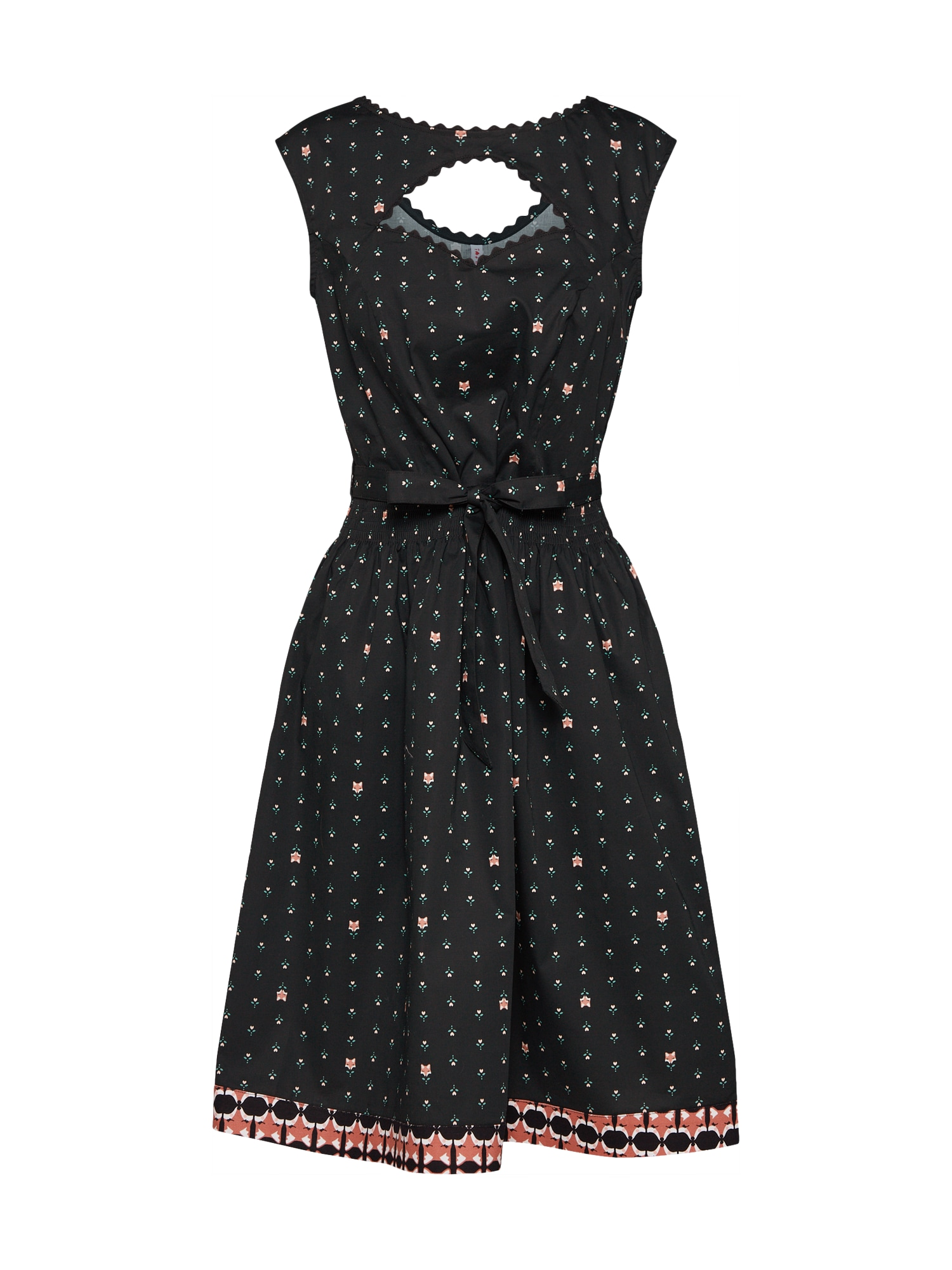 Koktejlové šaty schwarzwaldmädel robe mix barev černá Blutsgeschwister