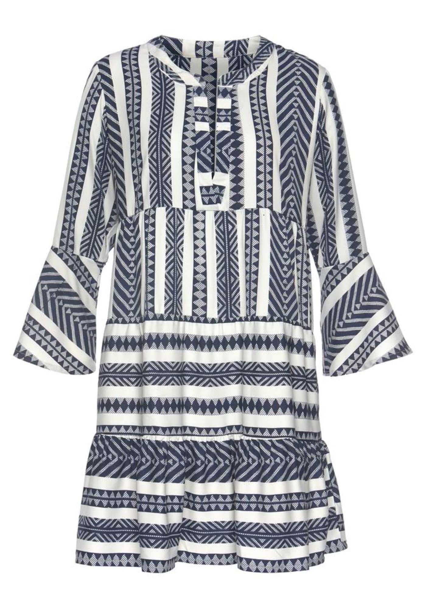VENICE BEACH Palaidinės tipo suknelė balta / mėlyna