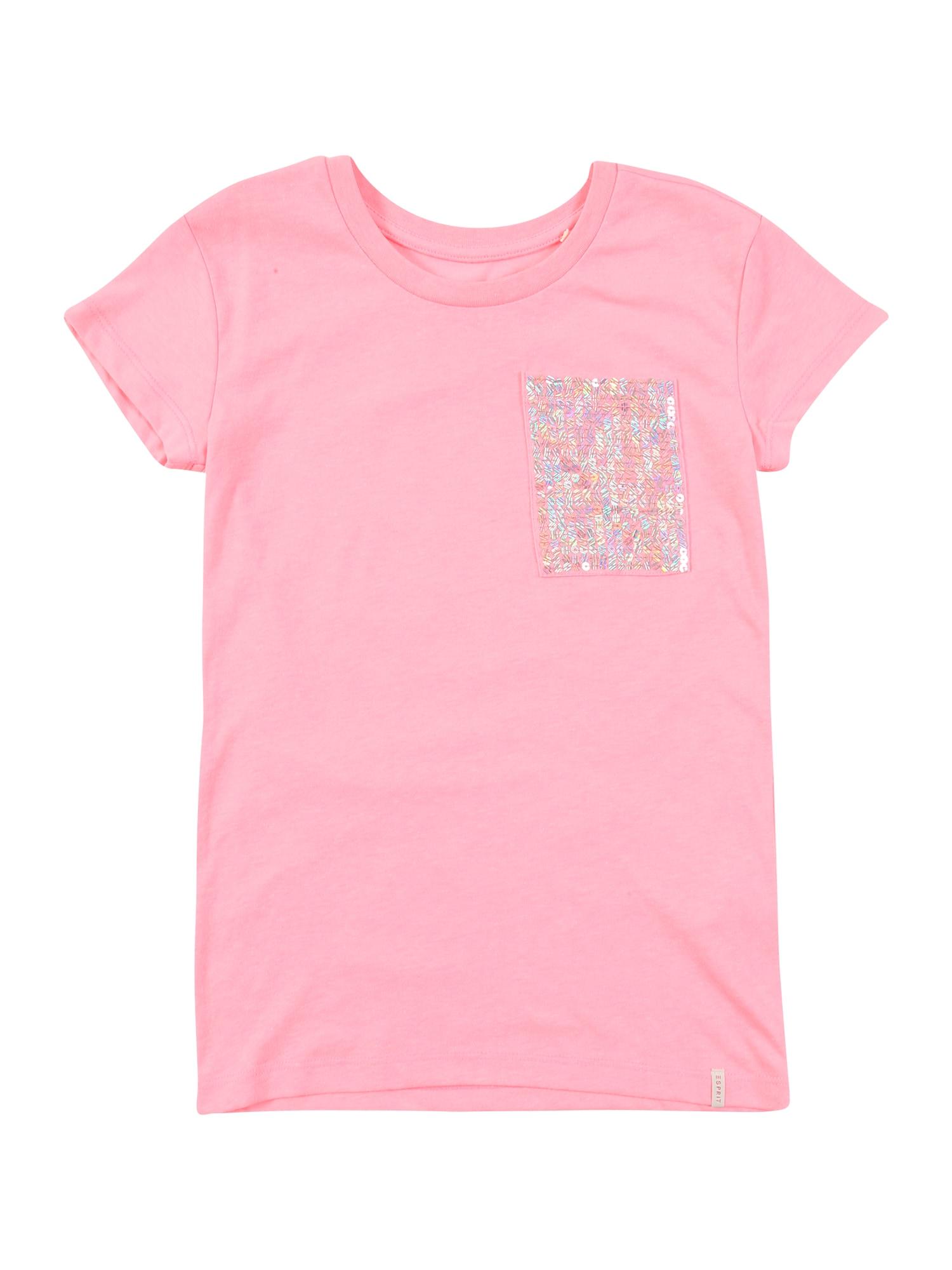 ESPRIT Marškinėliai rožių spalva