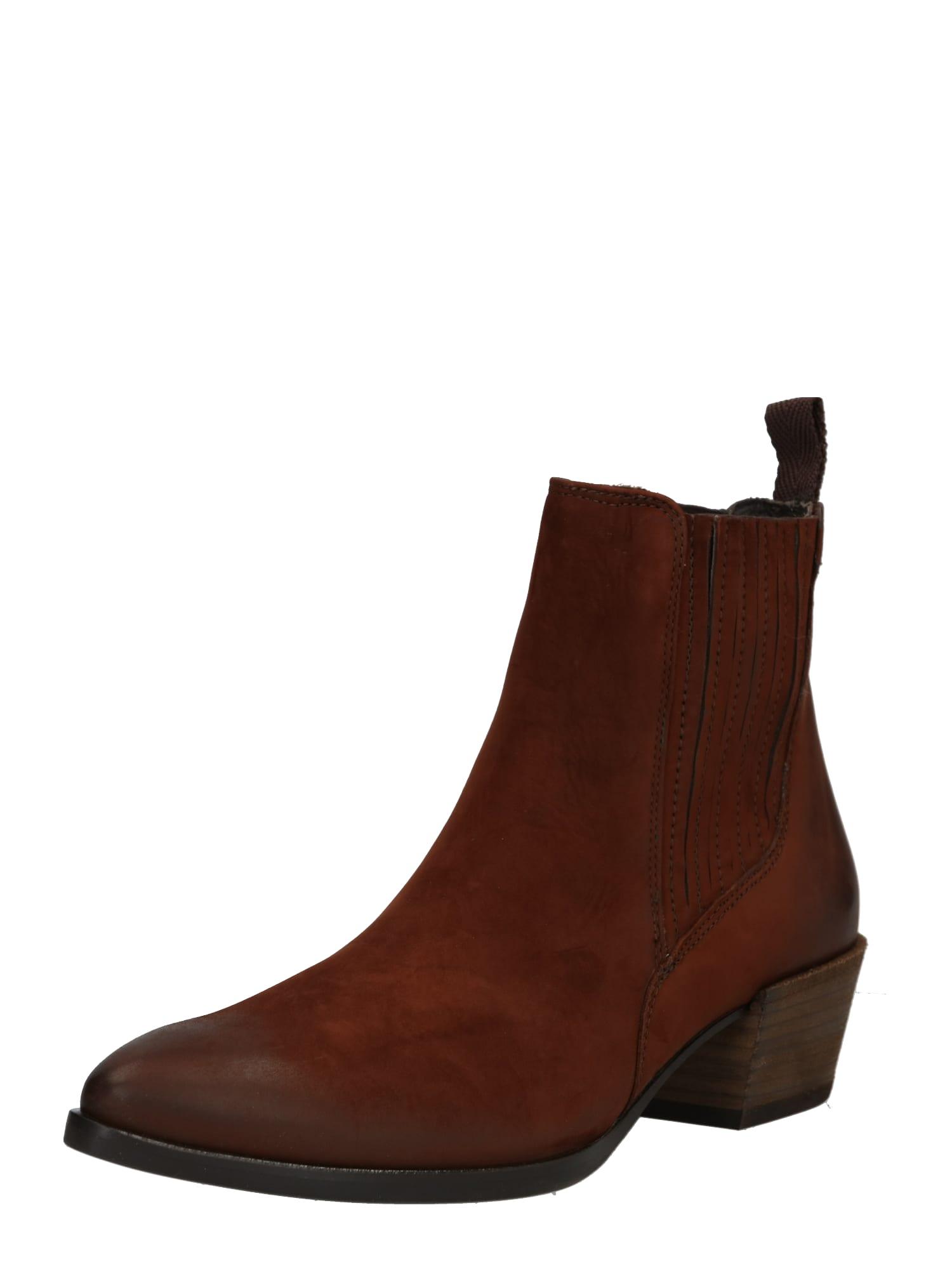 Kotníkové boty tmavě hnědá Paul Green