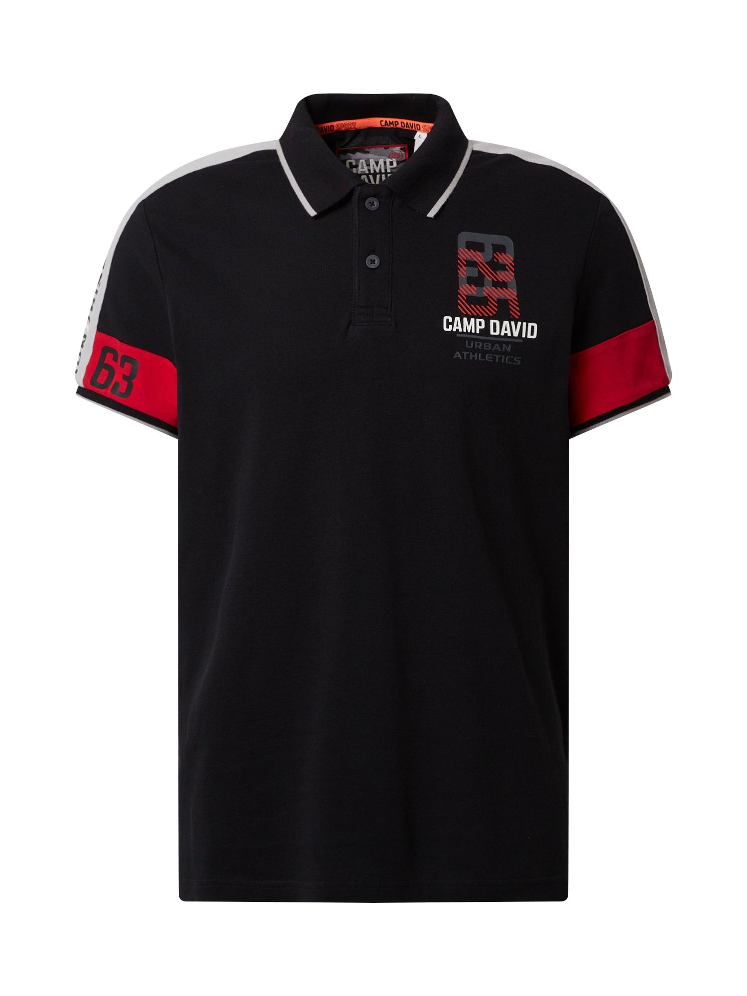 CAMP DAVID Marškinėliai raudona / juoda