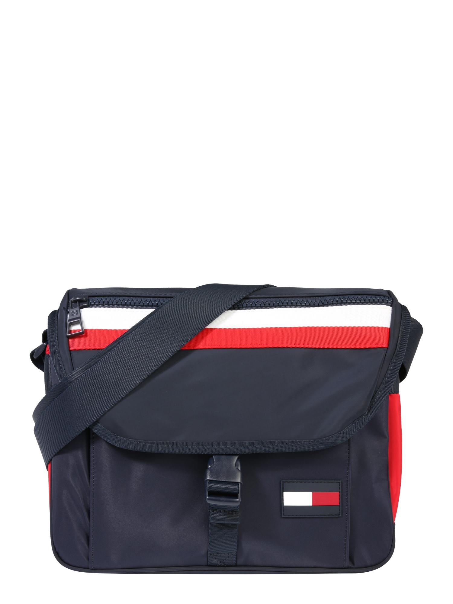 "TOMMY HILFIGER ""Messenger"" stiliaus rankinė 'Sport Mix Corp' tamsiai mėlyna / raudona / balta"