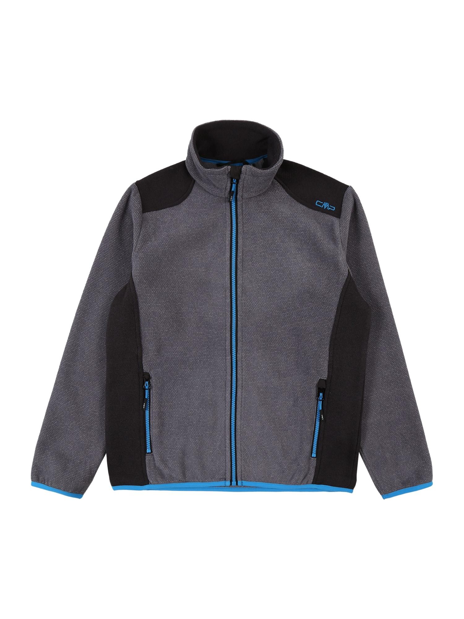 CMP Funkcinis flisinis džemperis pilka / dangaus žydra / antracito