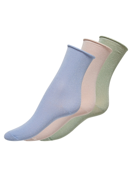 Socken für Frauen - ONLY Glitzer Socken beige blau grün  - Onlineshop ABOUT YOU