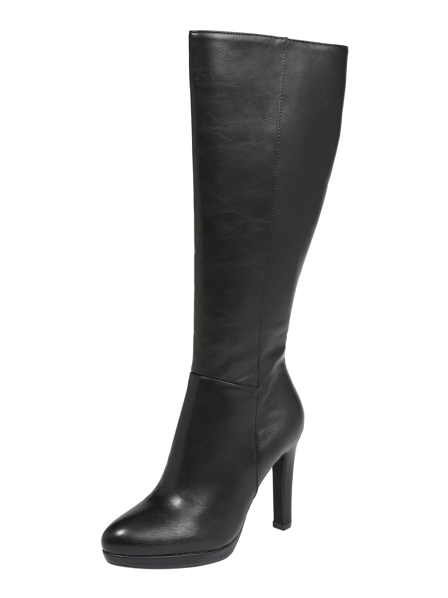 BUFFALO Auliniai batai su kulniuku 'FEDORA' juoda