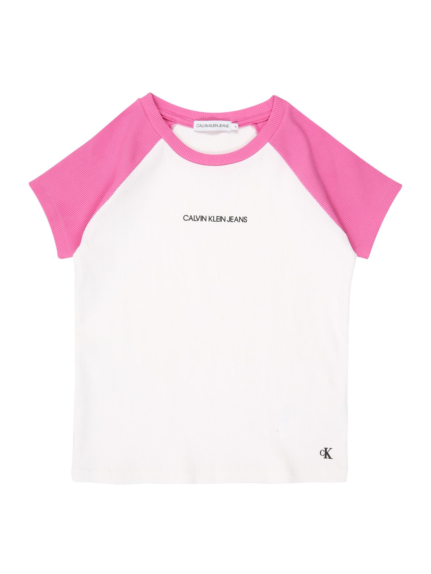 Calvin Klein Jeans Marškinėliai rožinė