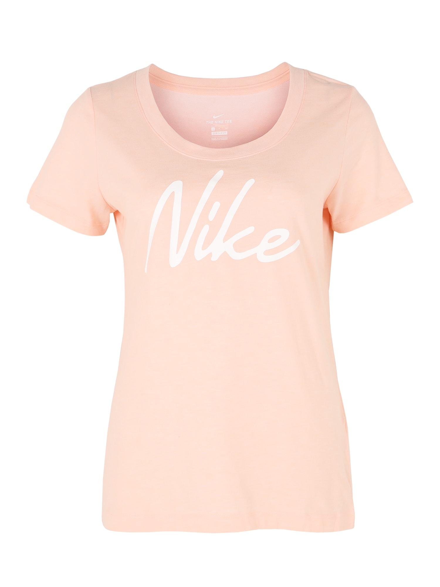NIKE Funkčné tričko  biela / koralová