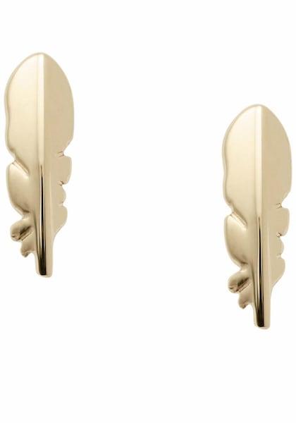 Ohrringe für Frauen - FOSSIL Paar Ohrstecker 'Federn' gold  - Onlineshop ABOUT YOU