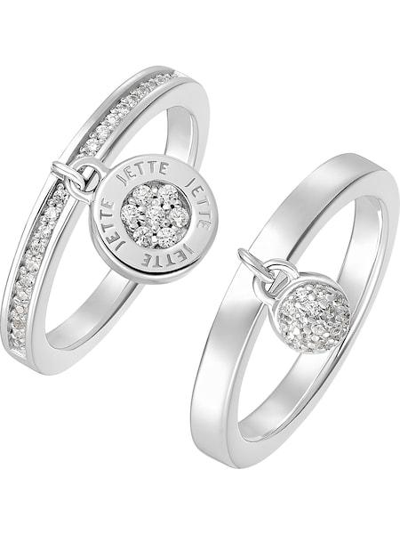 Schmucksets für Frauen - JETTE Ring silber weiß  - Onlineshop ABOUT YOU