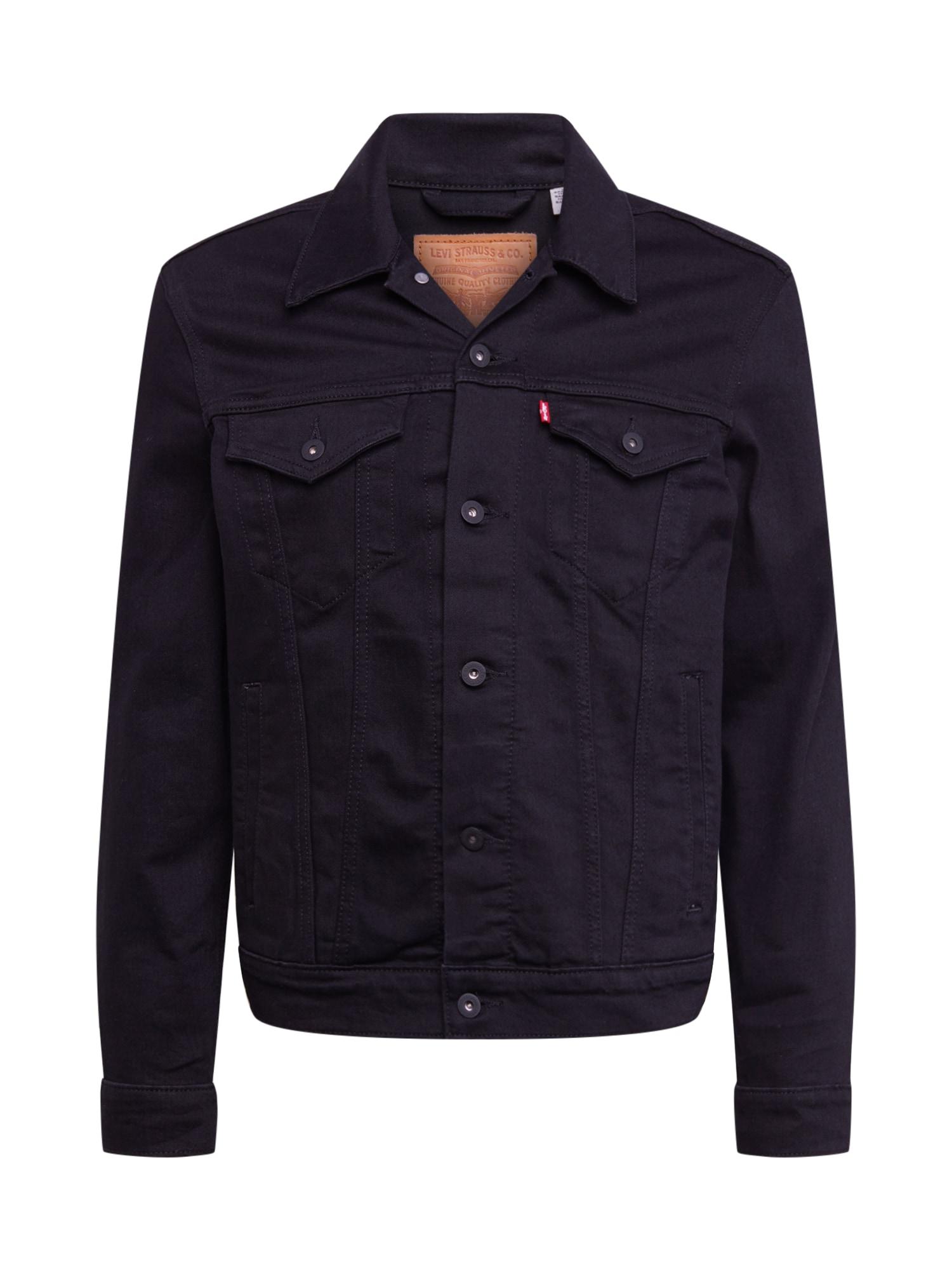 LEVI'S Prechodná bunda 'THE TRUCKER'  čierna