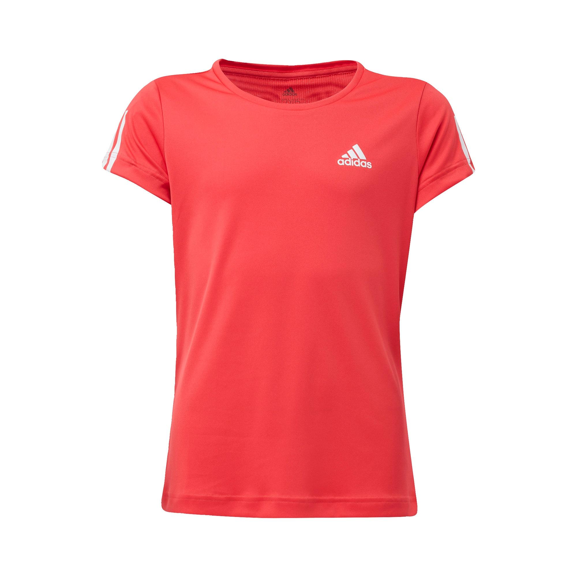 ADIDAS PERFORMANCE Sportiniai marškinėliai melionų spalva / balta