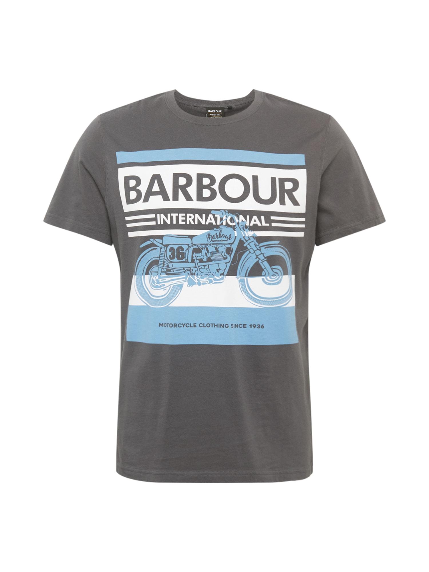 Barbour International Tričko  tmavosivá