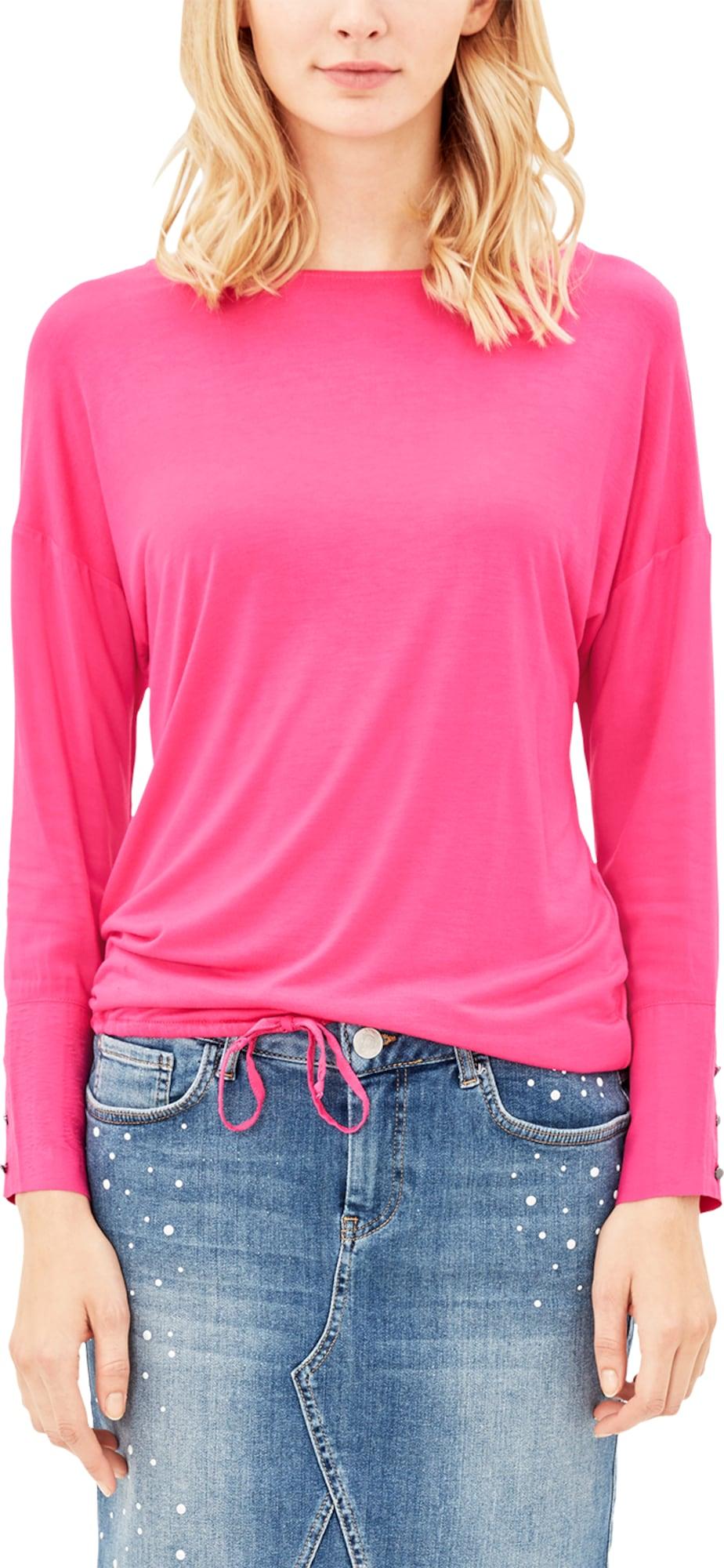 s oliver red label langarmshirt mit blusen details in pink about you. Black Bedroom Furniture Sets. Home Design Ideas