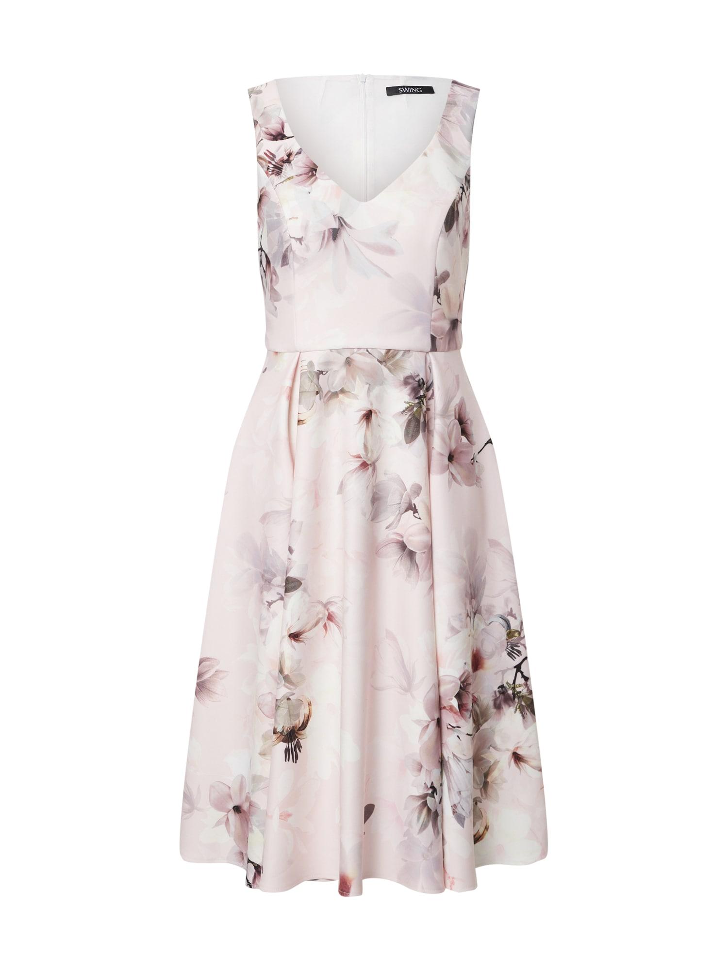 SWING Suknelė rožių spalva / pilka