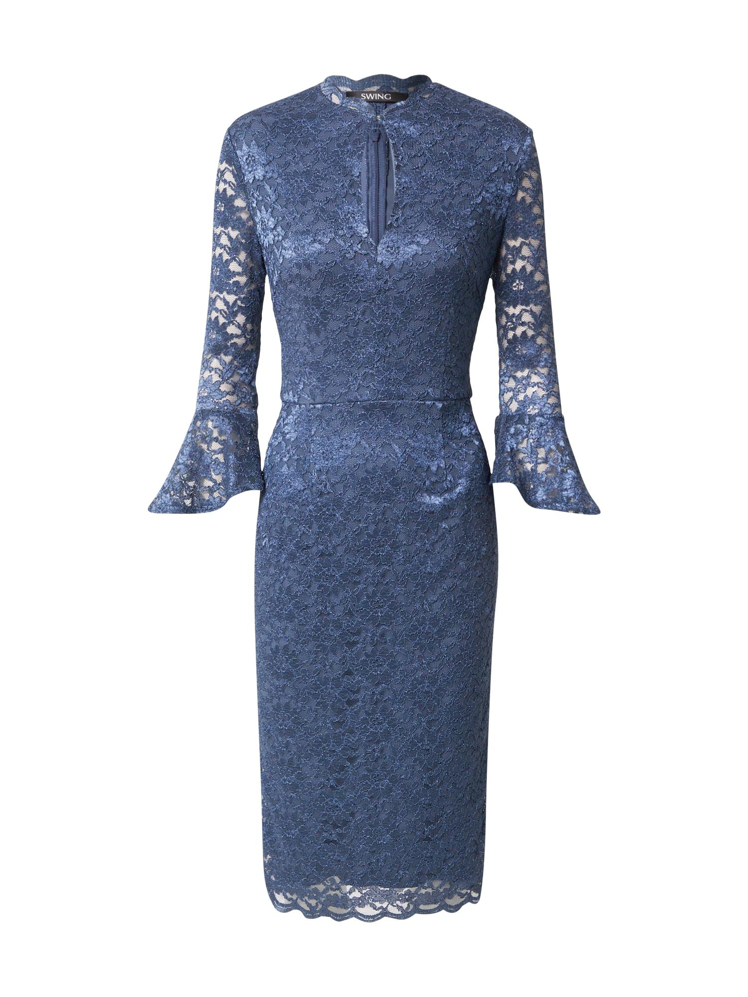 SWING Kokteilinė suknelė indigo spalva