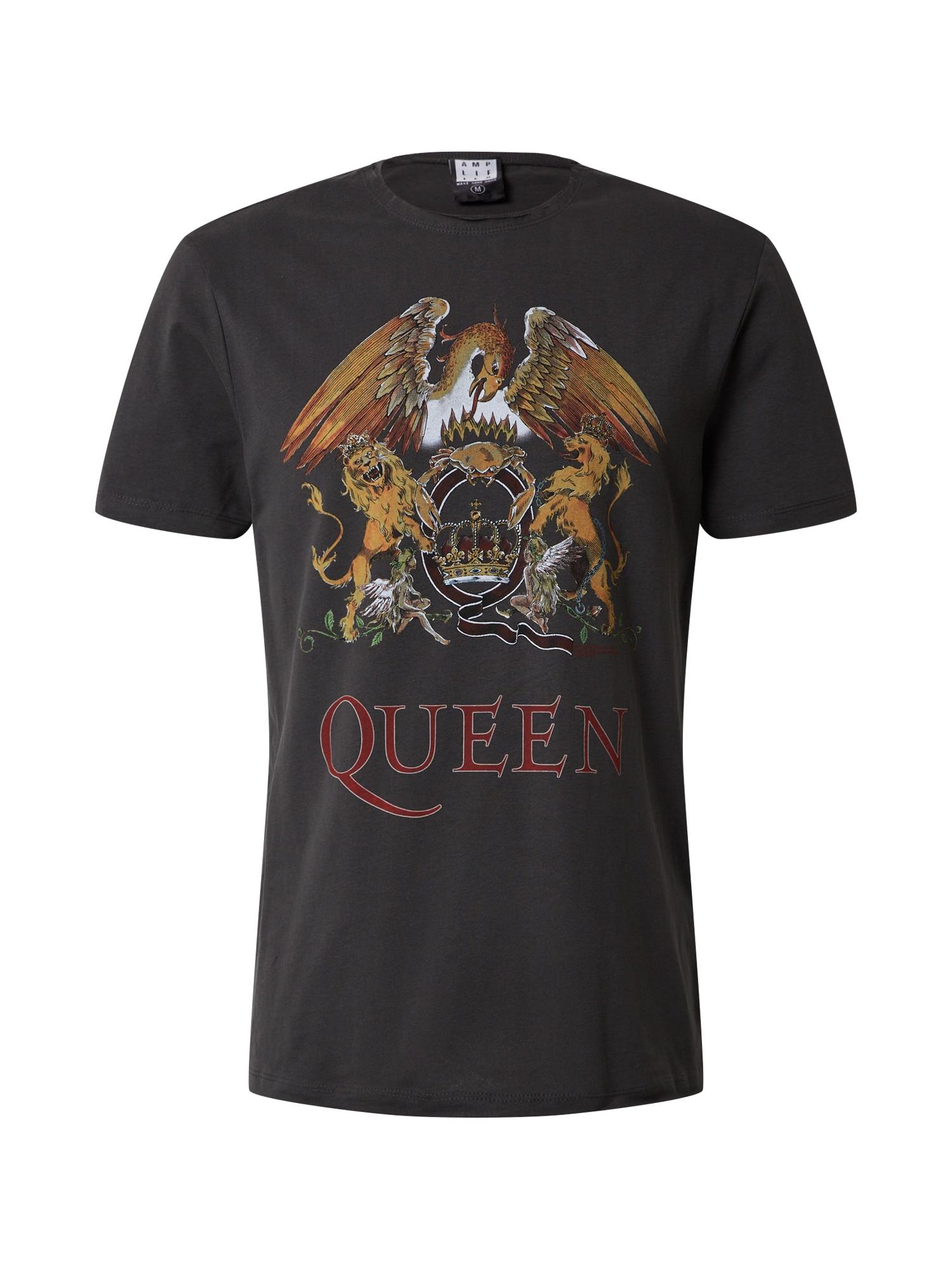 AMPLIFIED Marškinėliai 'QUEEN ROYAL QUEST' tamsiai pilka