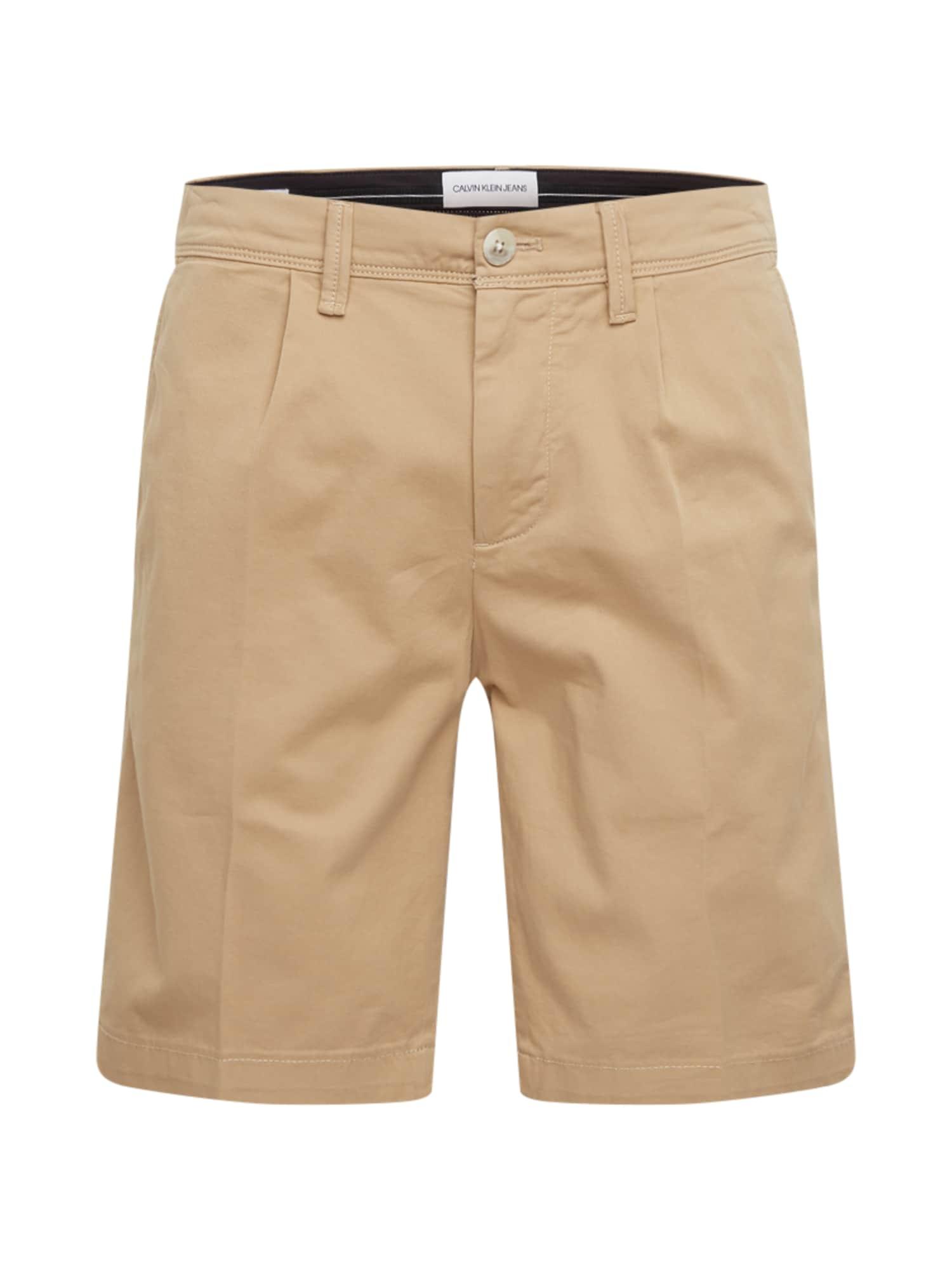 Calvin Klein Jeans Kelnės '026 SLIM' smėlio