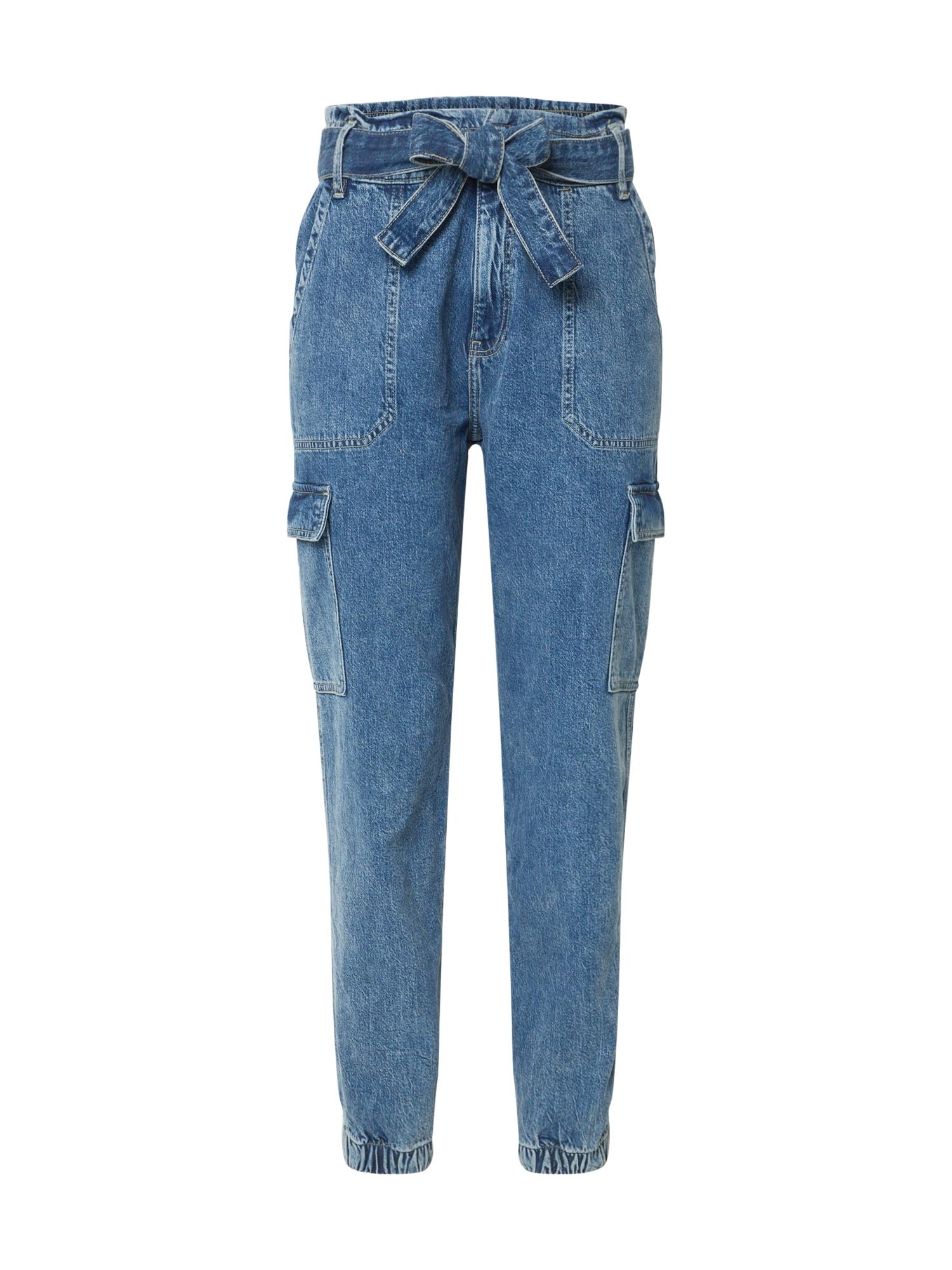 Q/S designed by Darbinio stiliaus kelnės tamsiai (džinso) mėlyna