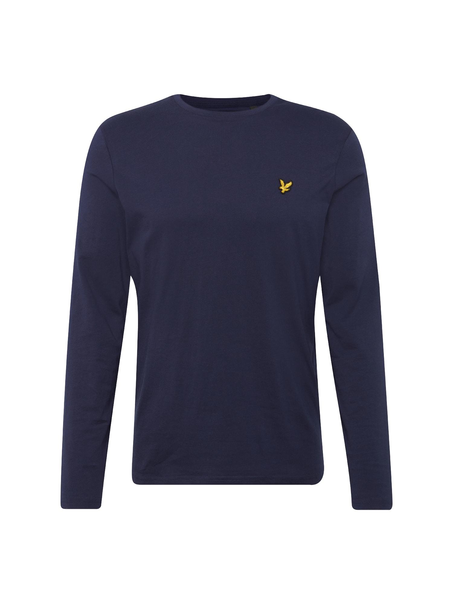 Tričko námořnická modř žlutá Lyle & Scott