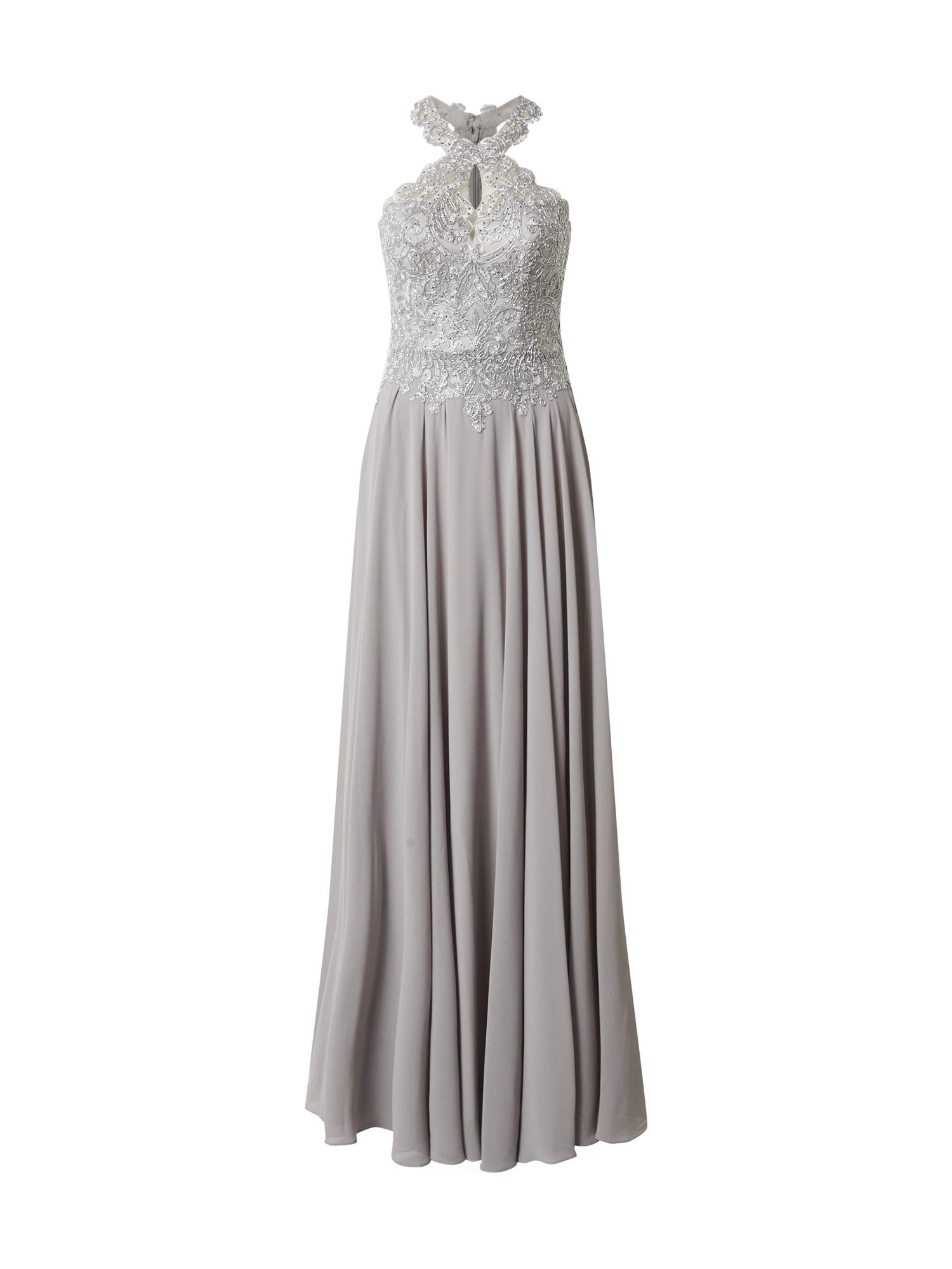 LUXUAR Vakarinė suknelė šviesiai pilka / sidabrinė