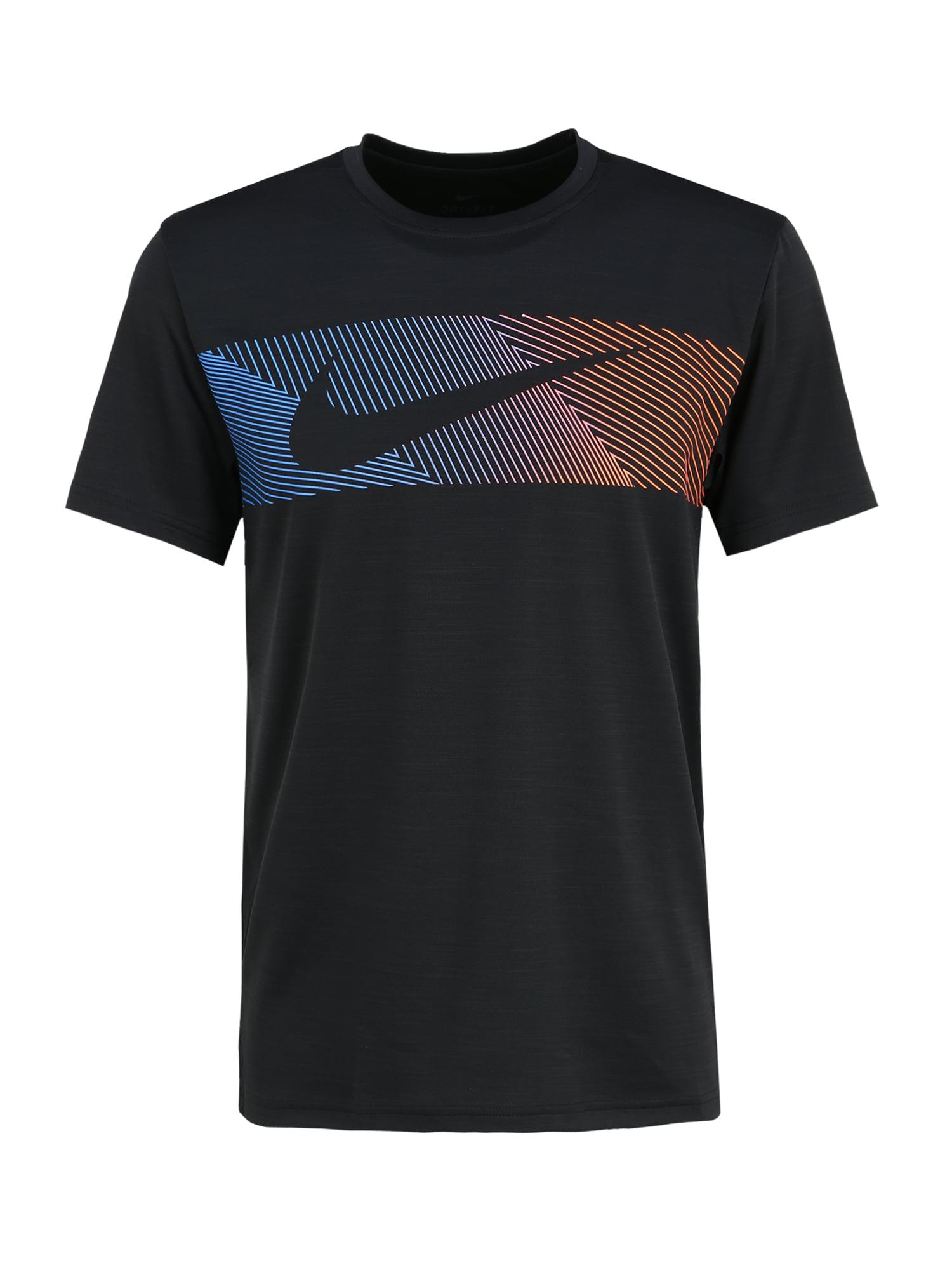 NIKE Funkčné tričko 'Dri-FIT Superset'  čierna / biela