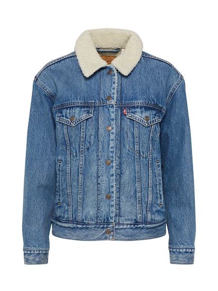 Jacken - Jacke 'Ex Bf Sherpa Trucker' › Levi's › blue denim  - Onlineshop ABOUT YOU