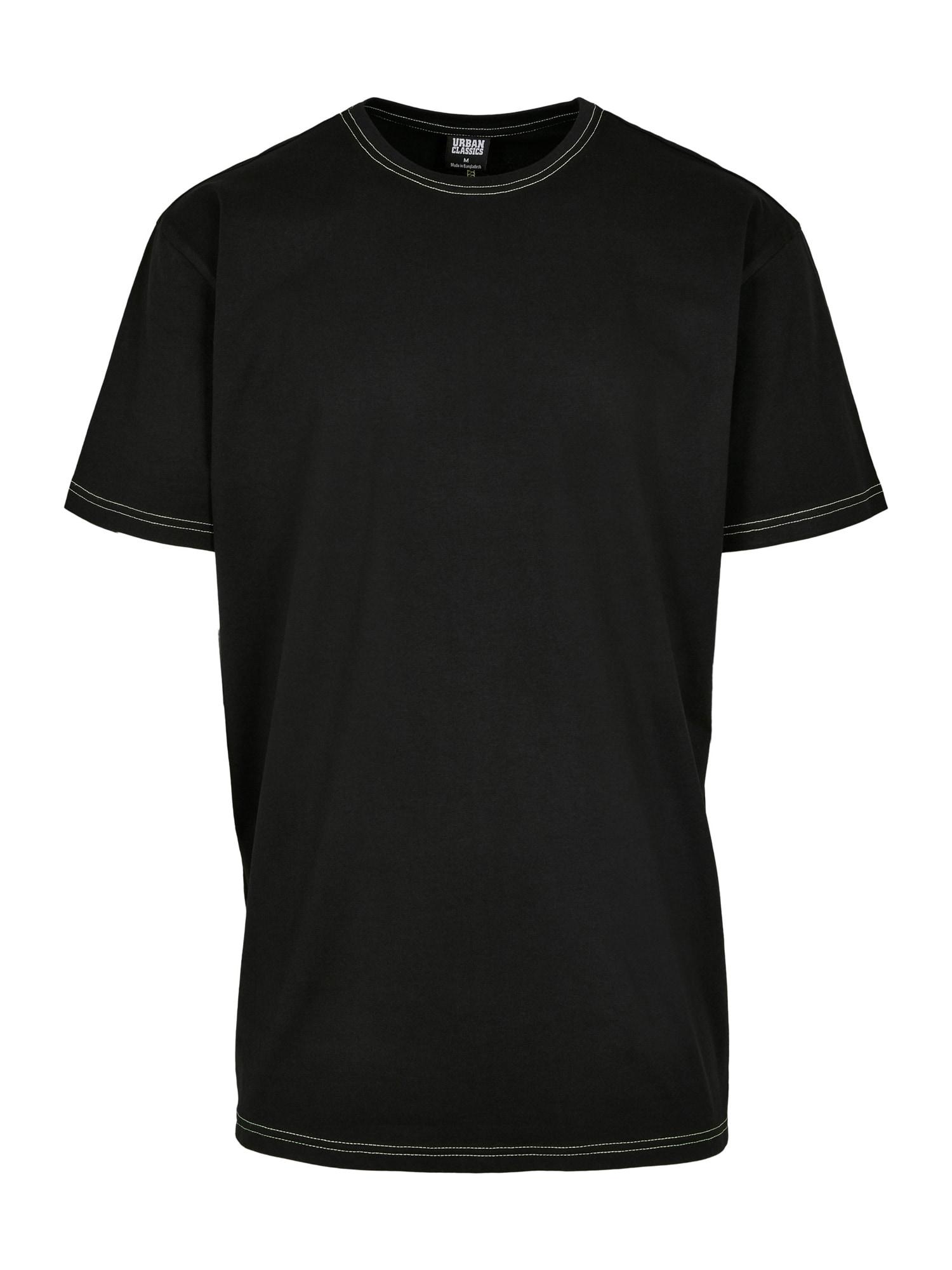 Urban Classics Póló  citromzöld / fekete