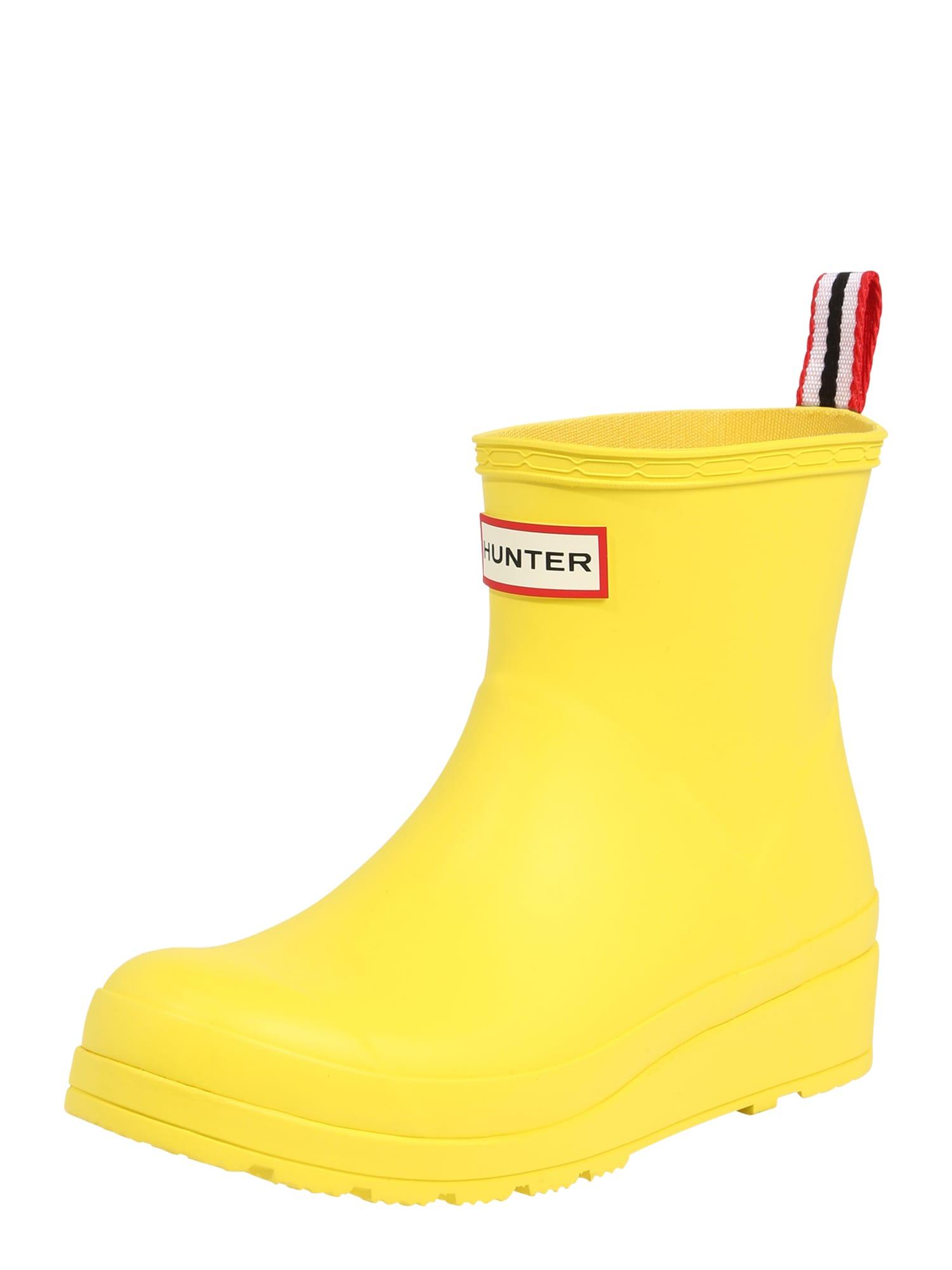 HUNTER Guminiai batai 'Play' geltona