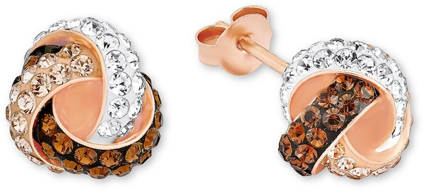 Ohrringe für Frauen - AMOR Ohrstecker mit Swarovski® Kristallen rosegold  - Onlineshop ABOUT YOU