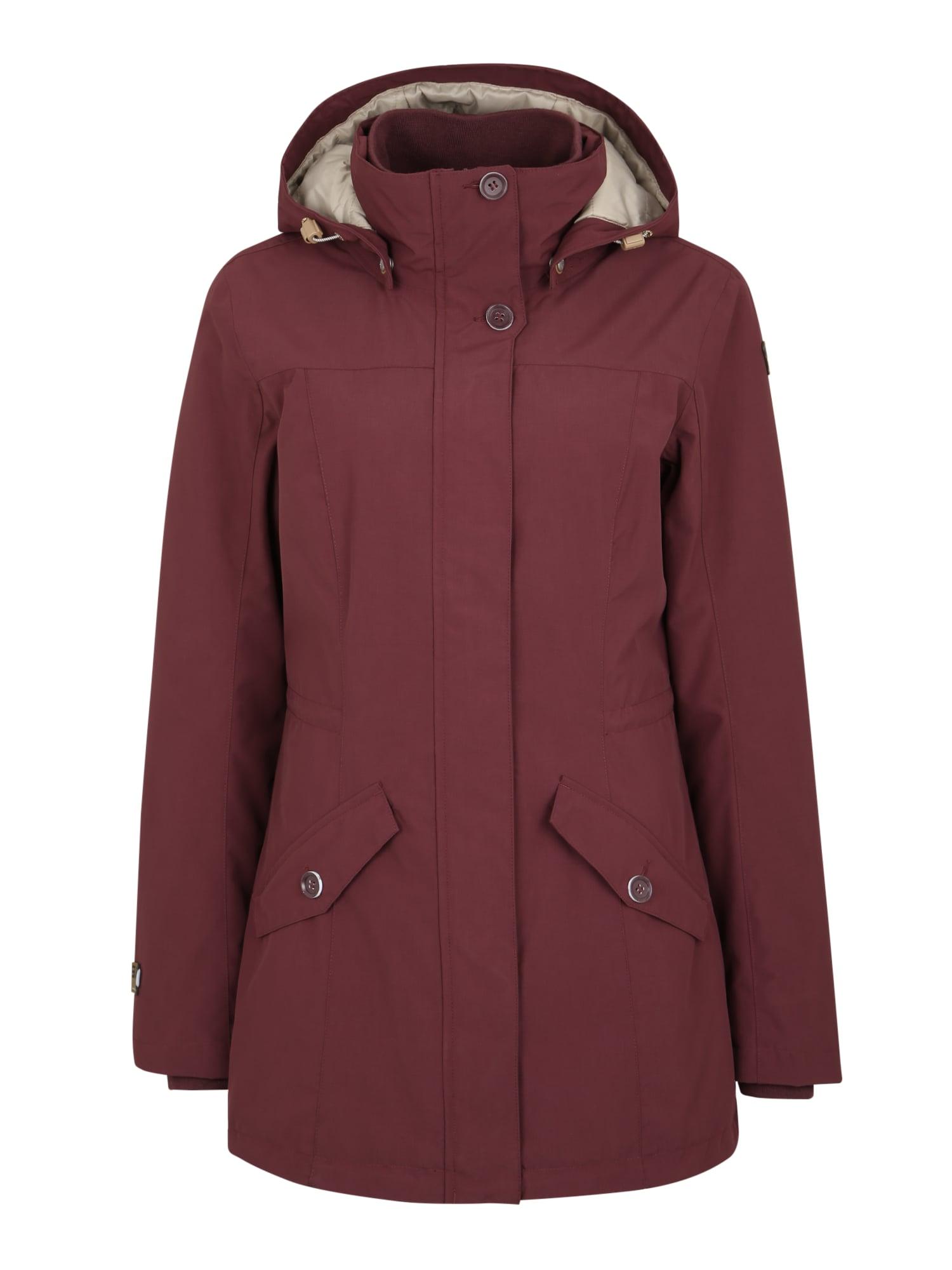 ICEPEAK Outdoorová bunda 'Tess'  vínově červená