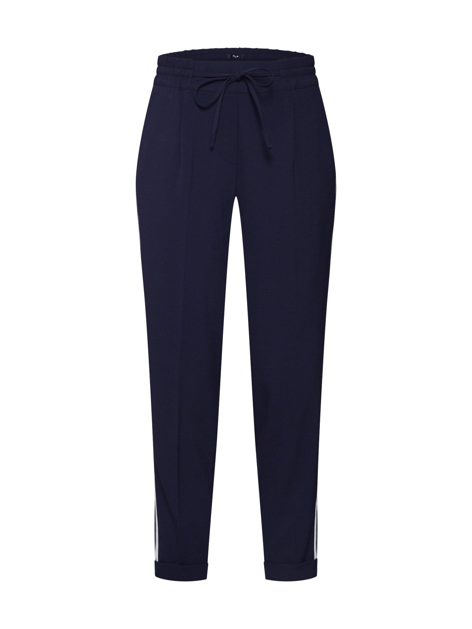 OPUS Plisované nohavice 'Melosa pin'  modrá