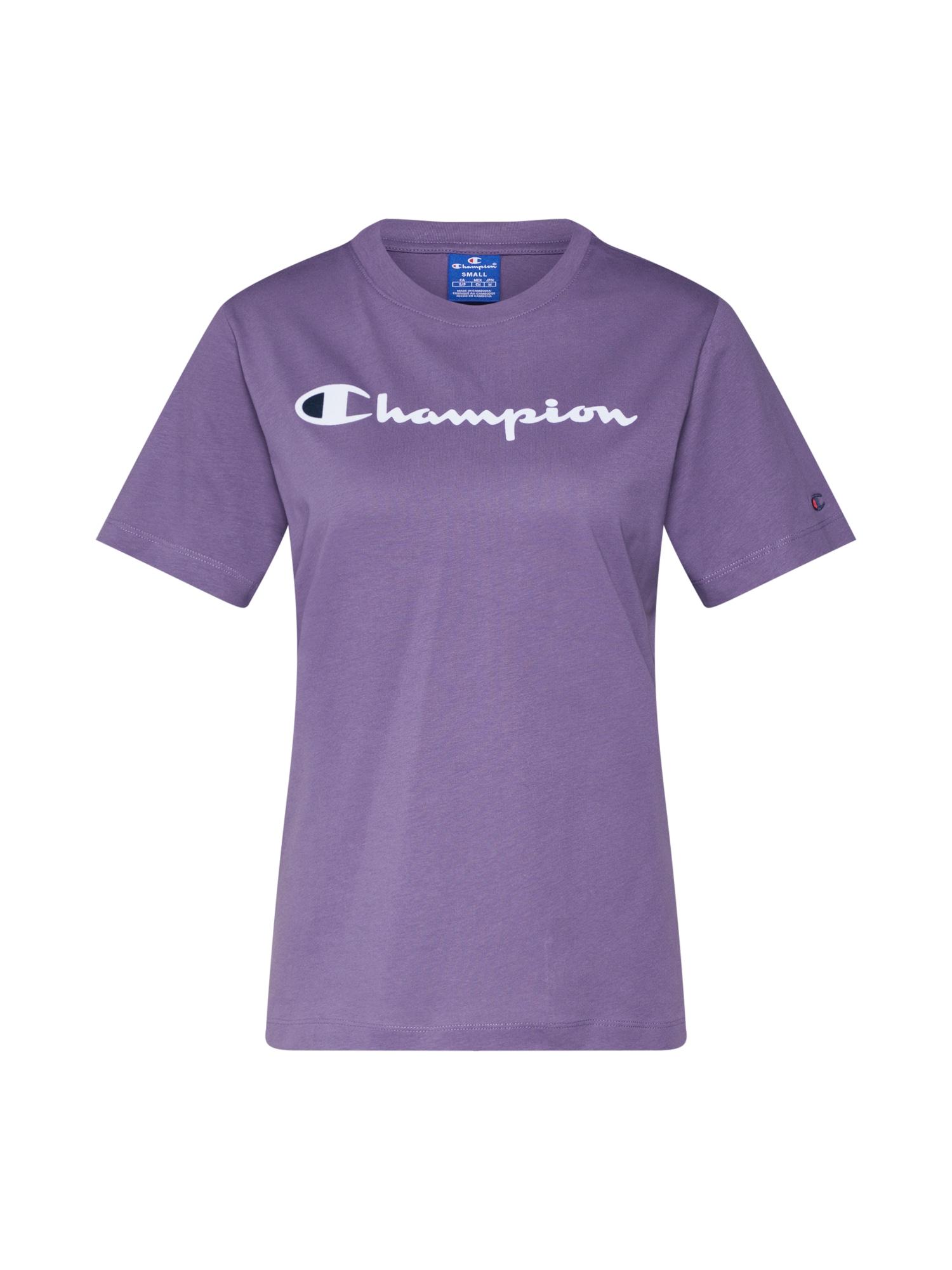 Tričko fialová černá bílá Champion Authentic Athletic Apparel