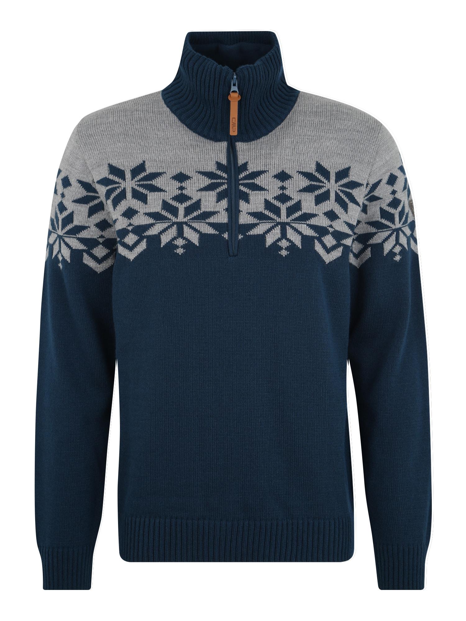 CMP Sportinis megztinis pilka / tamsiai mėlyna