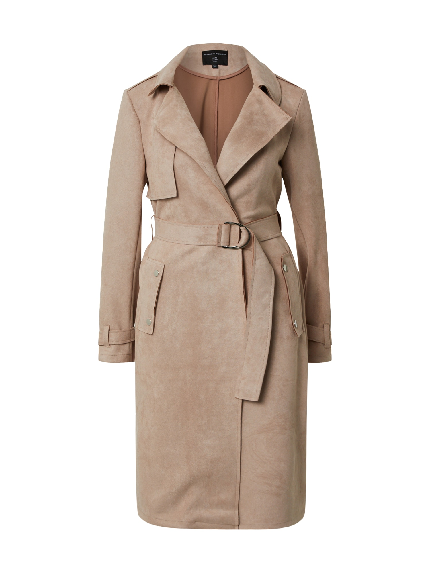Dorothy Perkins Rudeninis-žieminis paltas 'Blush Suedette D-Ring Mac' odos