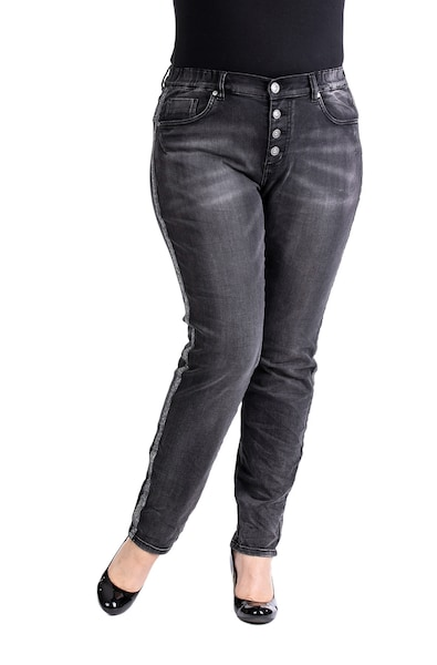 Hosen - Jeans 'HEATHER' › Purple Lily › grau  - Onlineshop ABOUT YOU